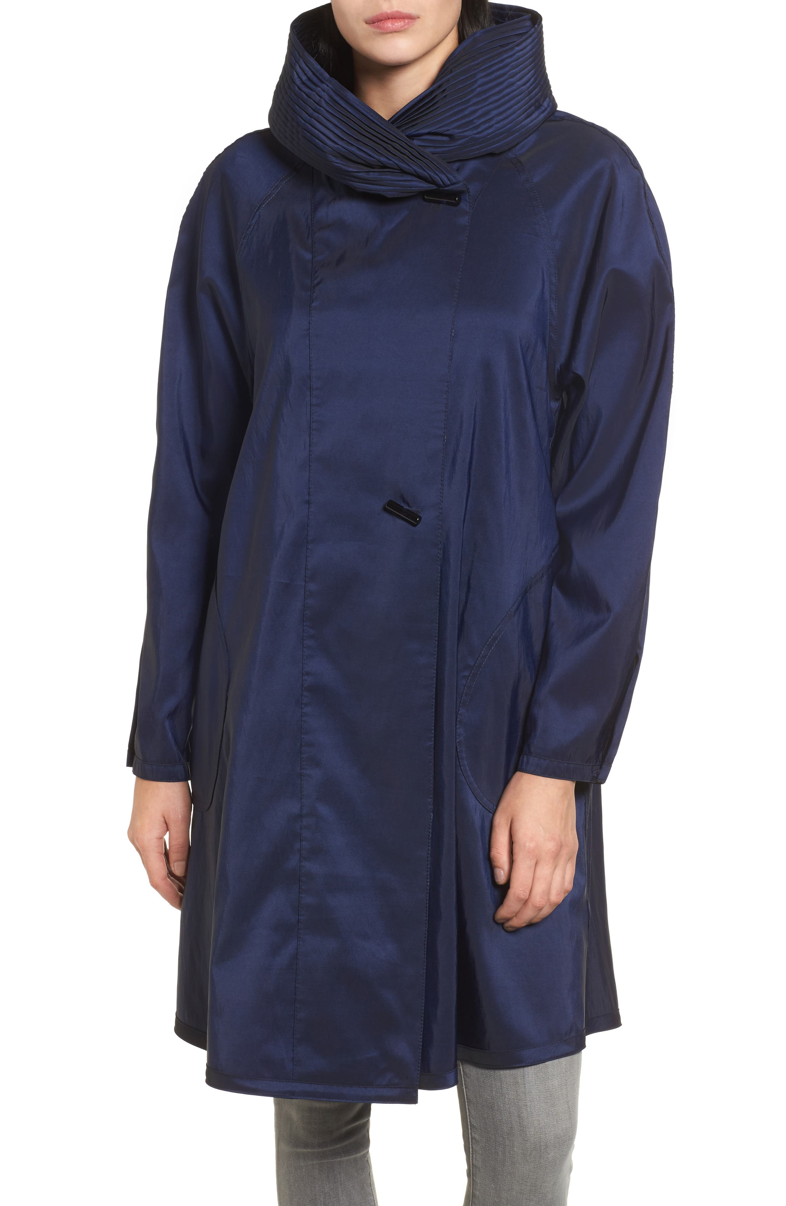 Main Image - Mycra Pac Designer Wear 'Donatella' Reversible Dot Pleat Hood Packable Travel Coat