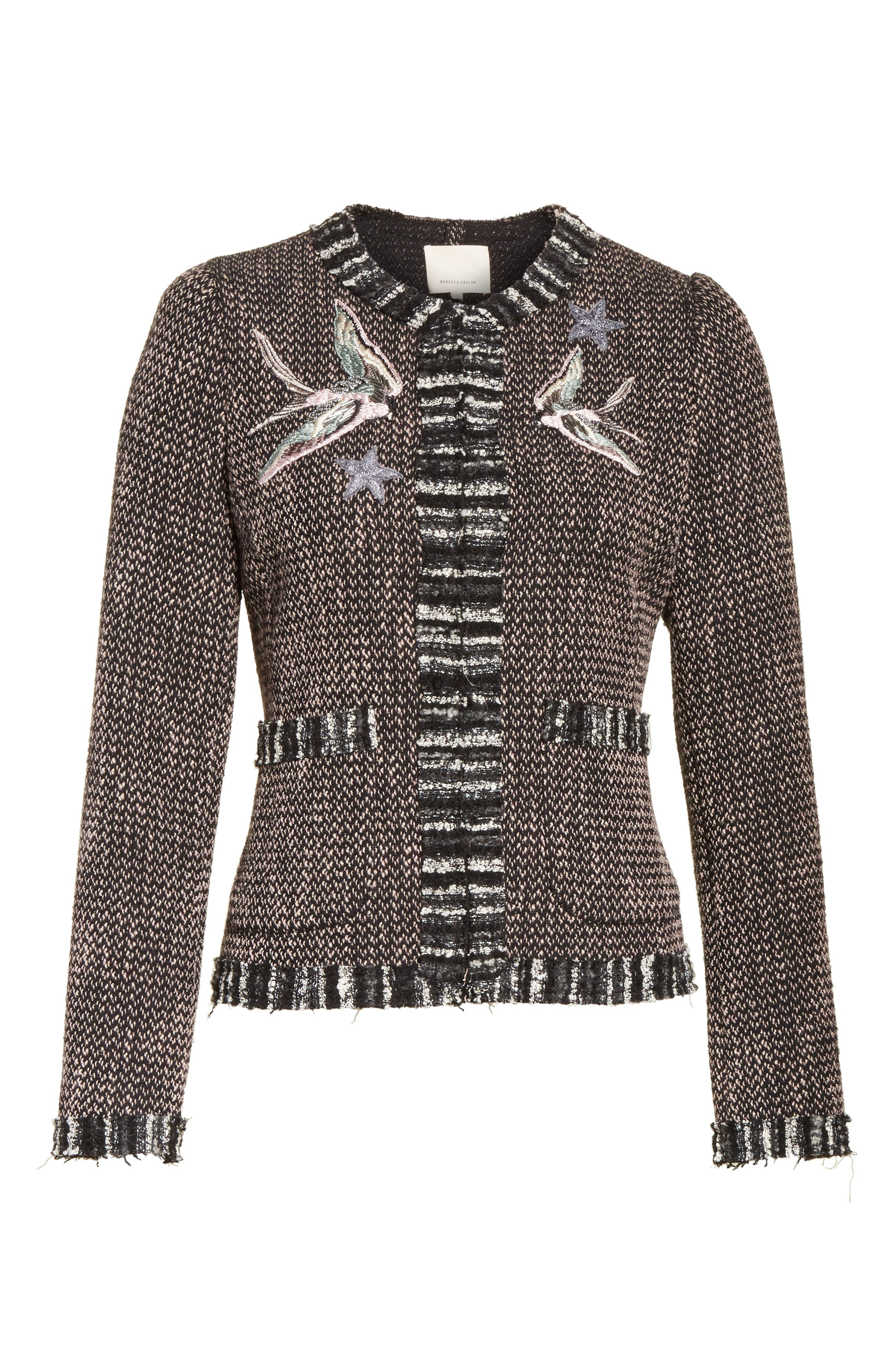 Alternate Image 6  - Rebecca Taylor Embellished Multi Tweed Jacket