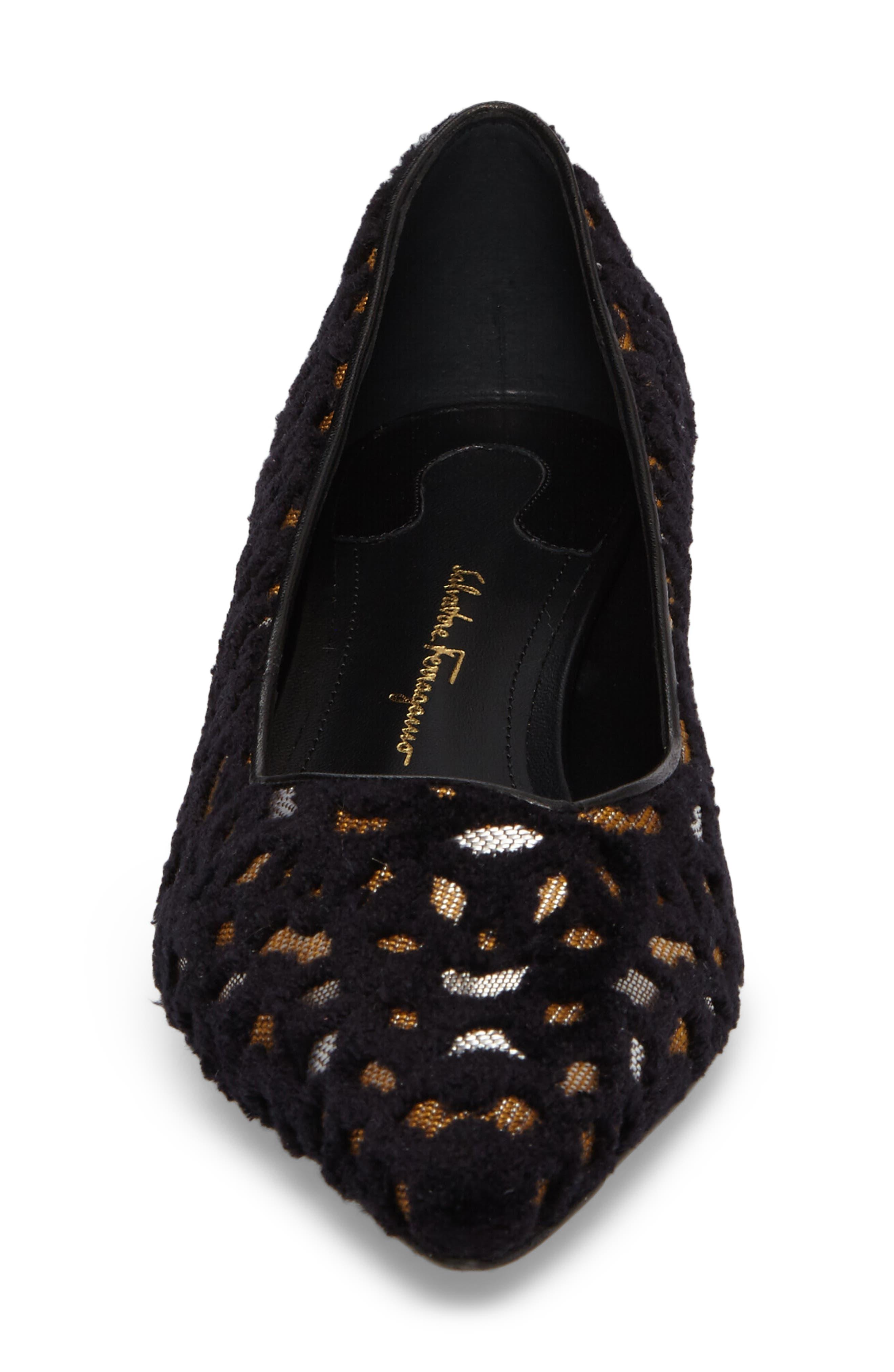 Alternate Image 4  - Salvatore Ferragamo Flower Heel Flat (Women)
