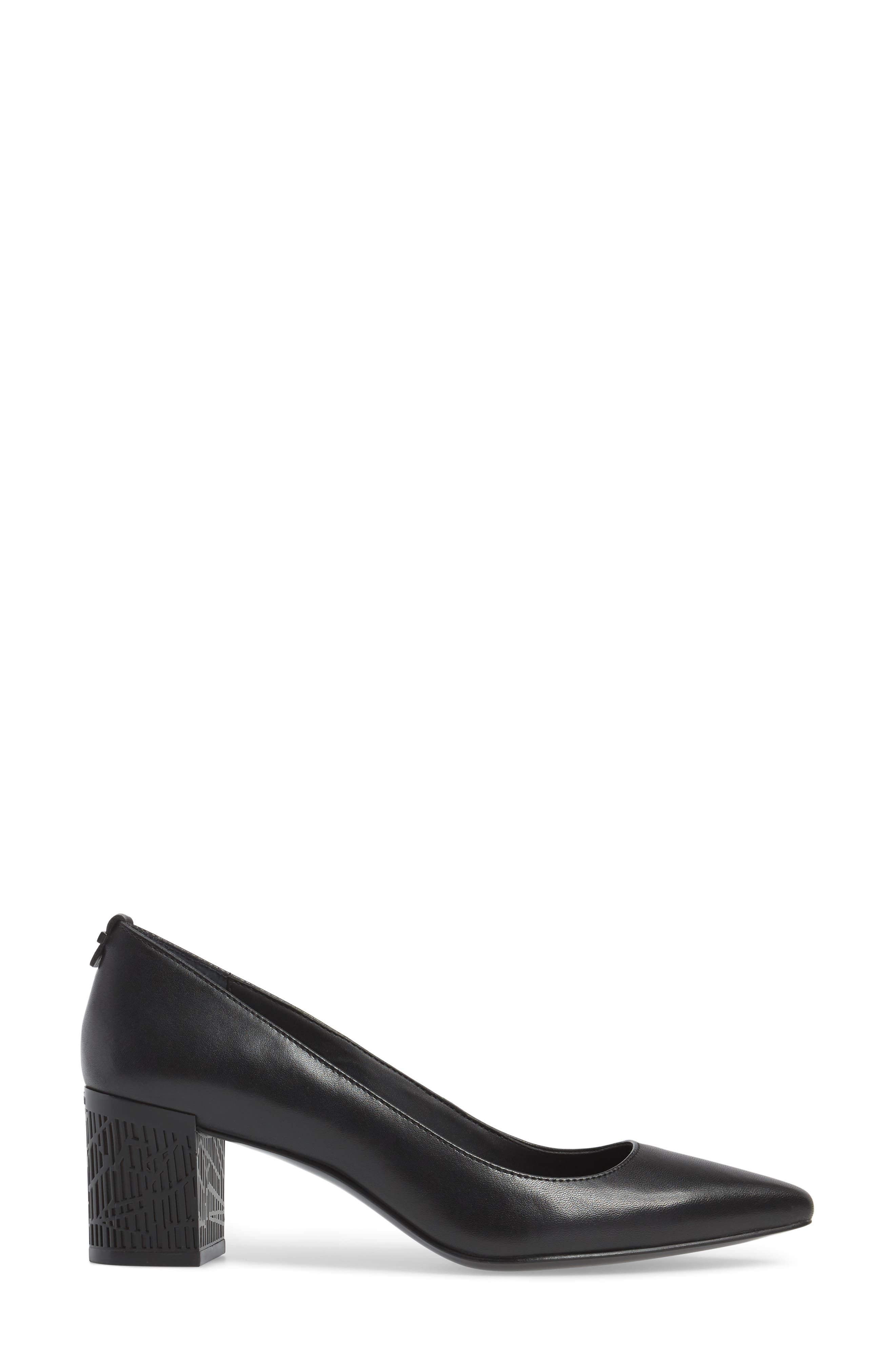 Natalynn 2 Texture Heel Pump,                             Alternate thumbnail 3, color,                             Black