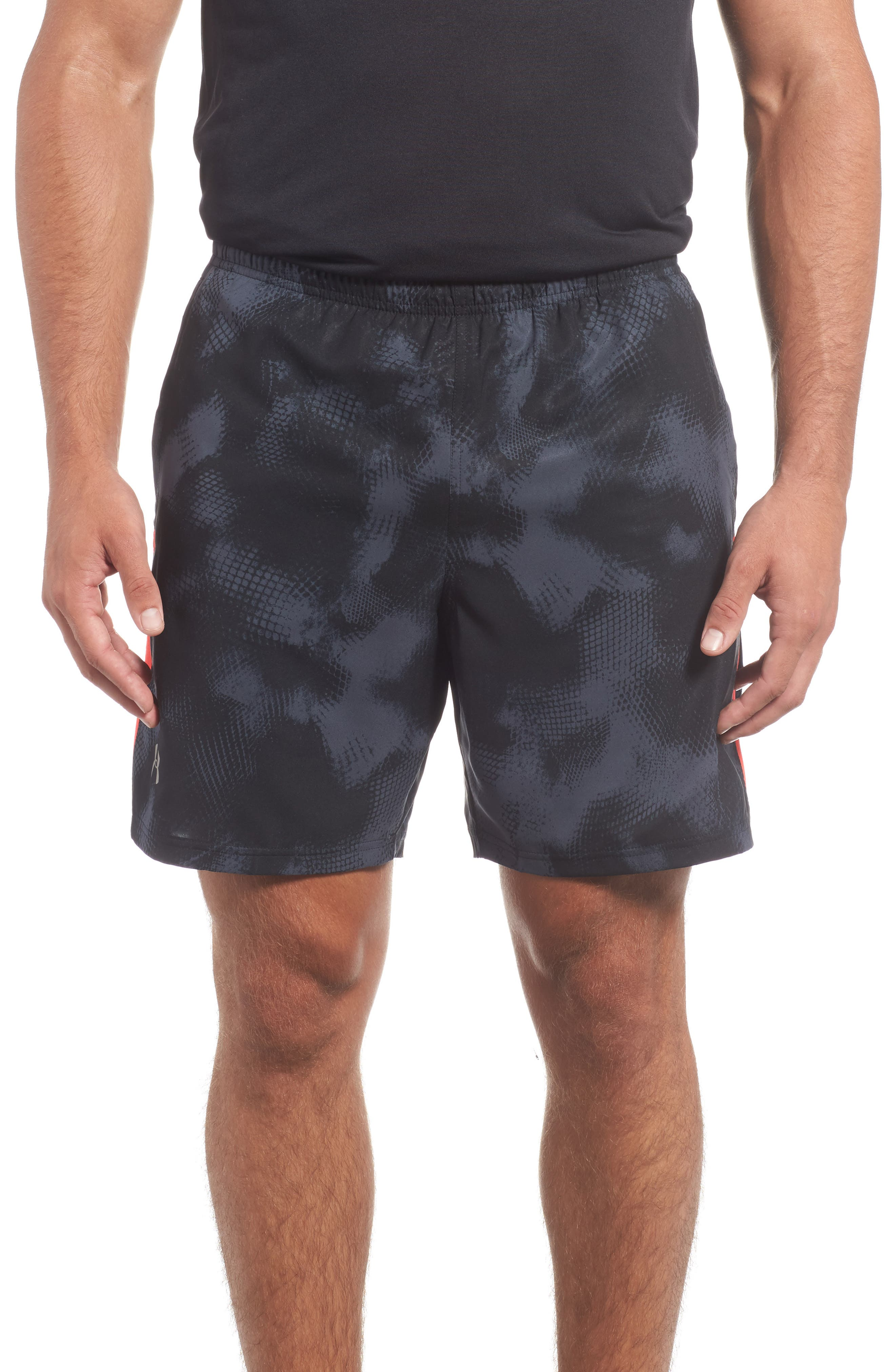 Launch Running Shorts,                         Main,                         color, Black/ Red/ Reflective