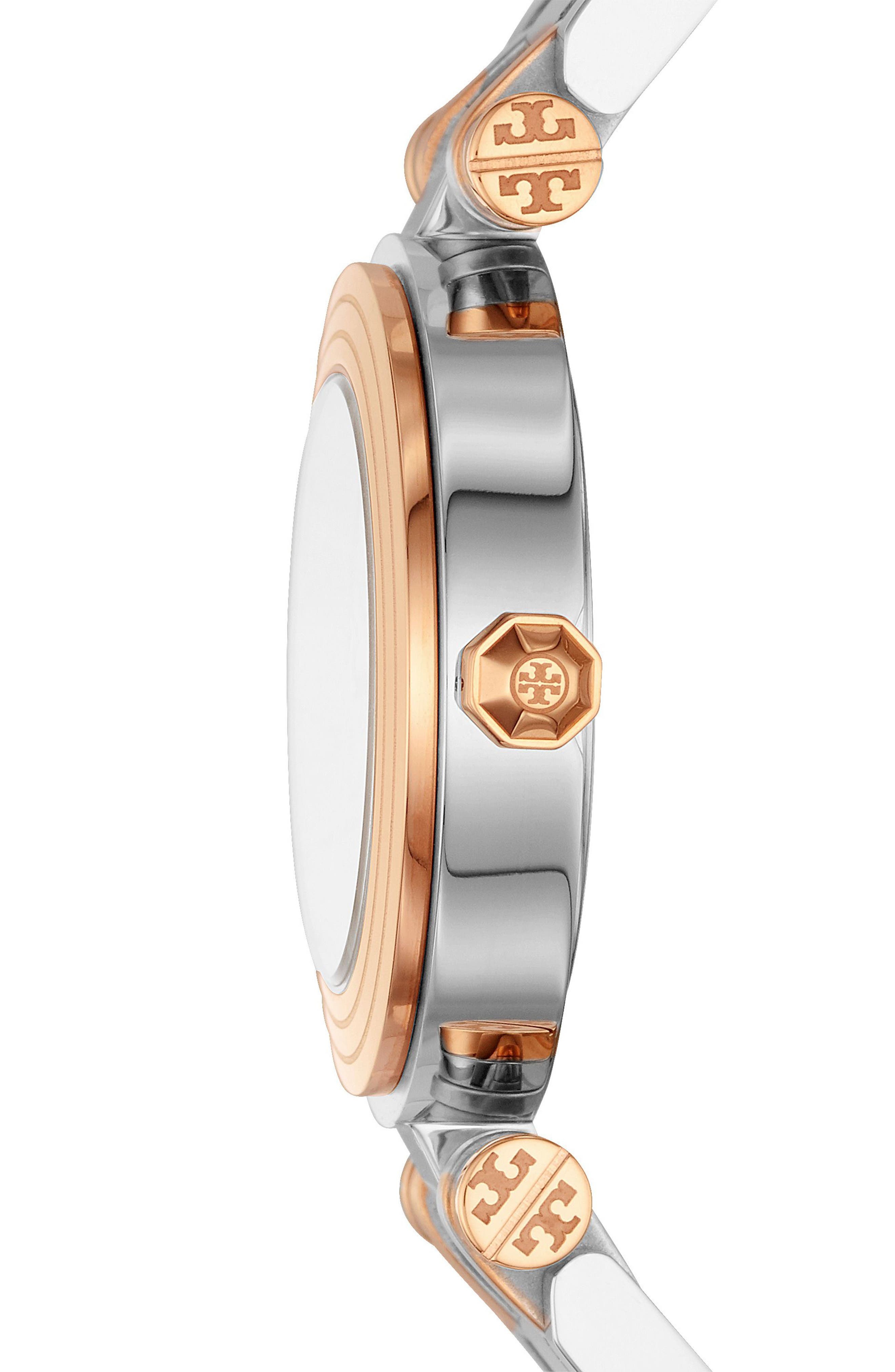Classic-T Bracelet Watch, 30mm,                             Alternate thumbnail 2, color,                             Silver/ Ivory/ Rose Gold