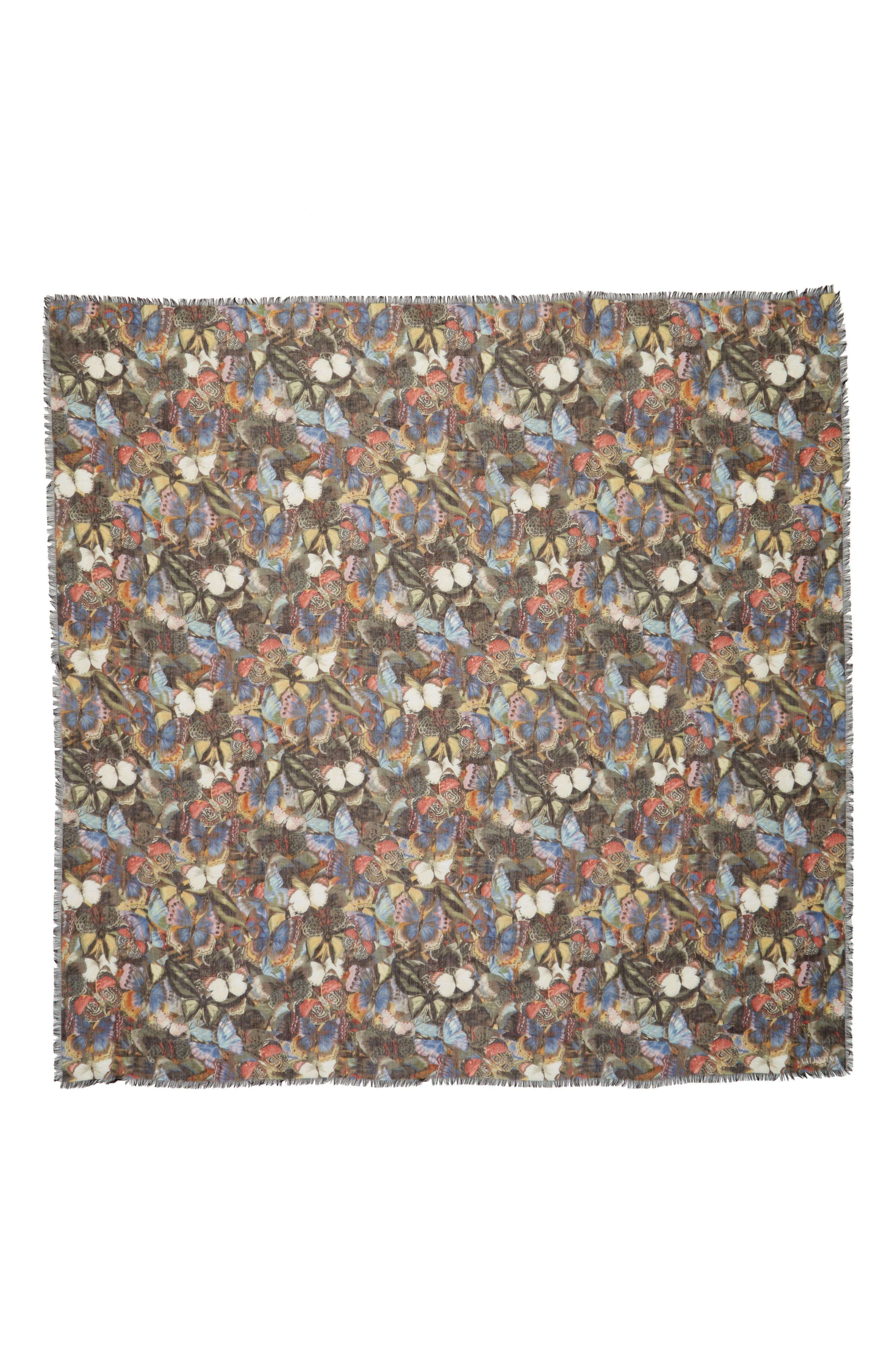 Butterfly Cashmere & Silk Scarf,                         Main,                         color, Multicolor