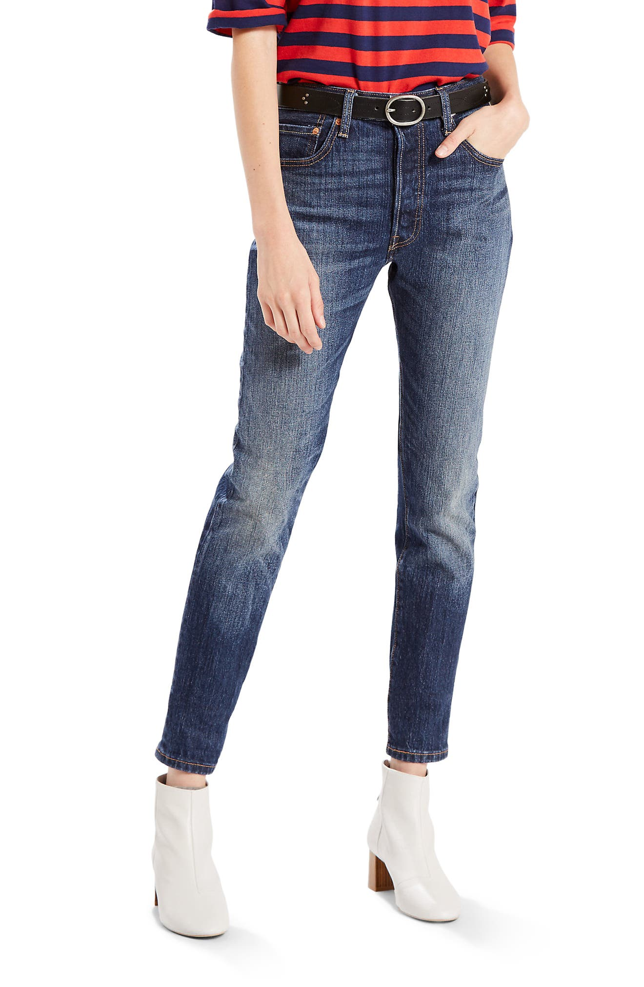 Levi's® 501 High Waist Skinny Jeans (Supercharger)