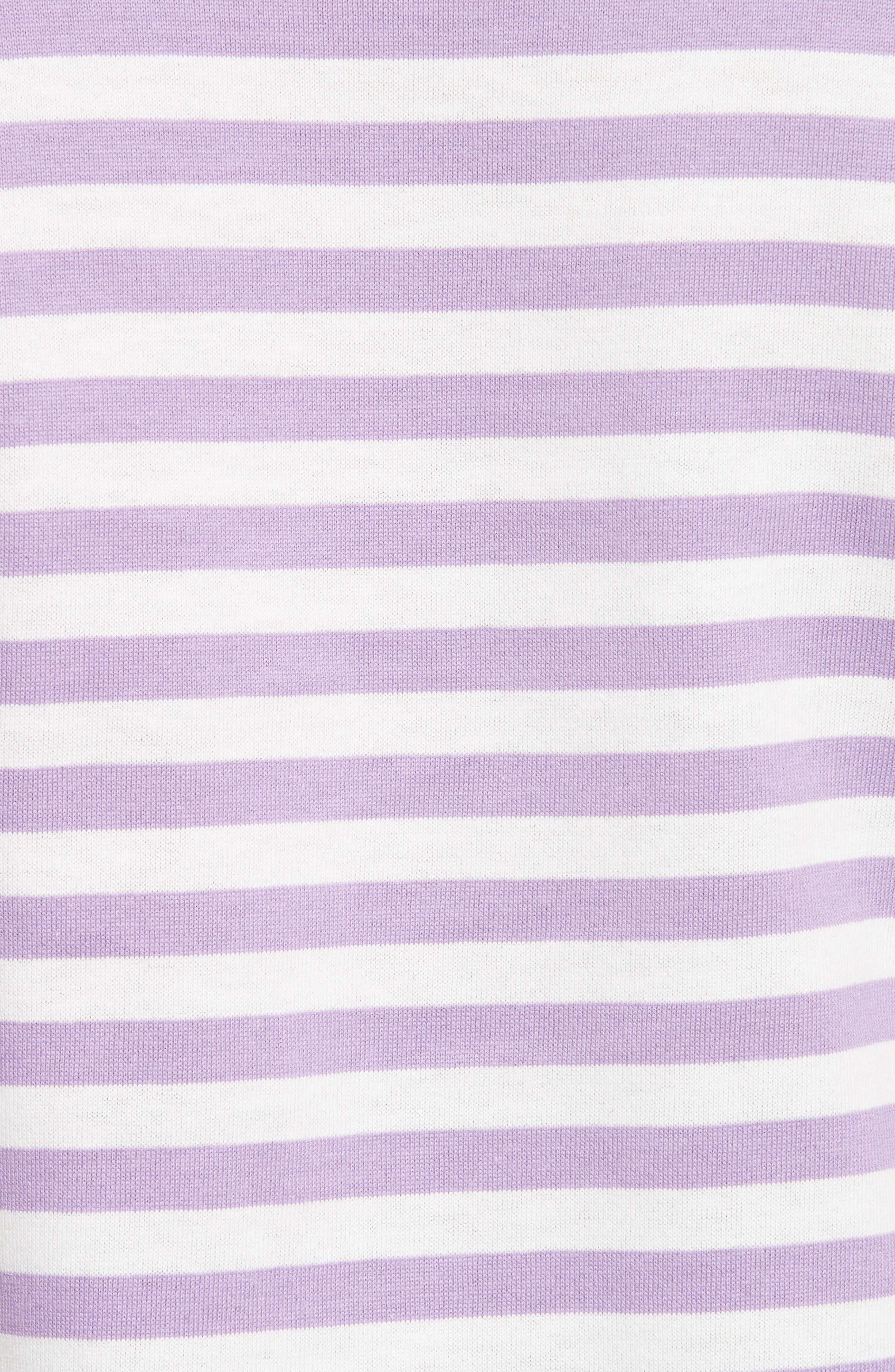 PLAY Stripe Cotton Tee,                             Alternate thumbnail 5, color,                             Purple
