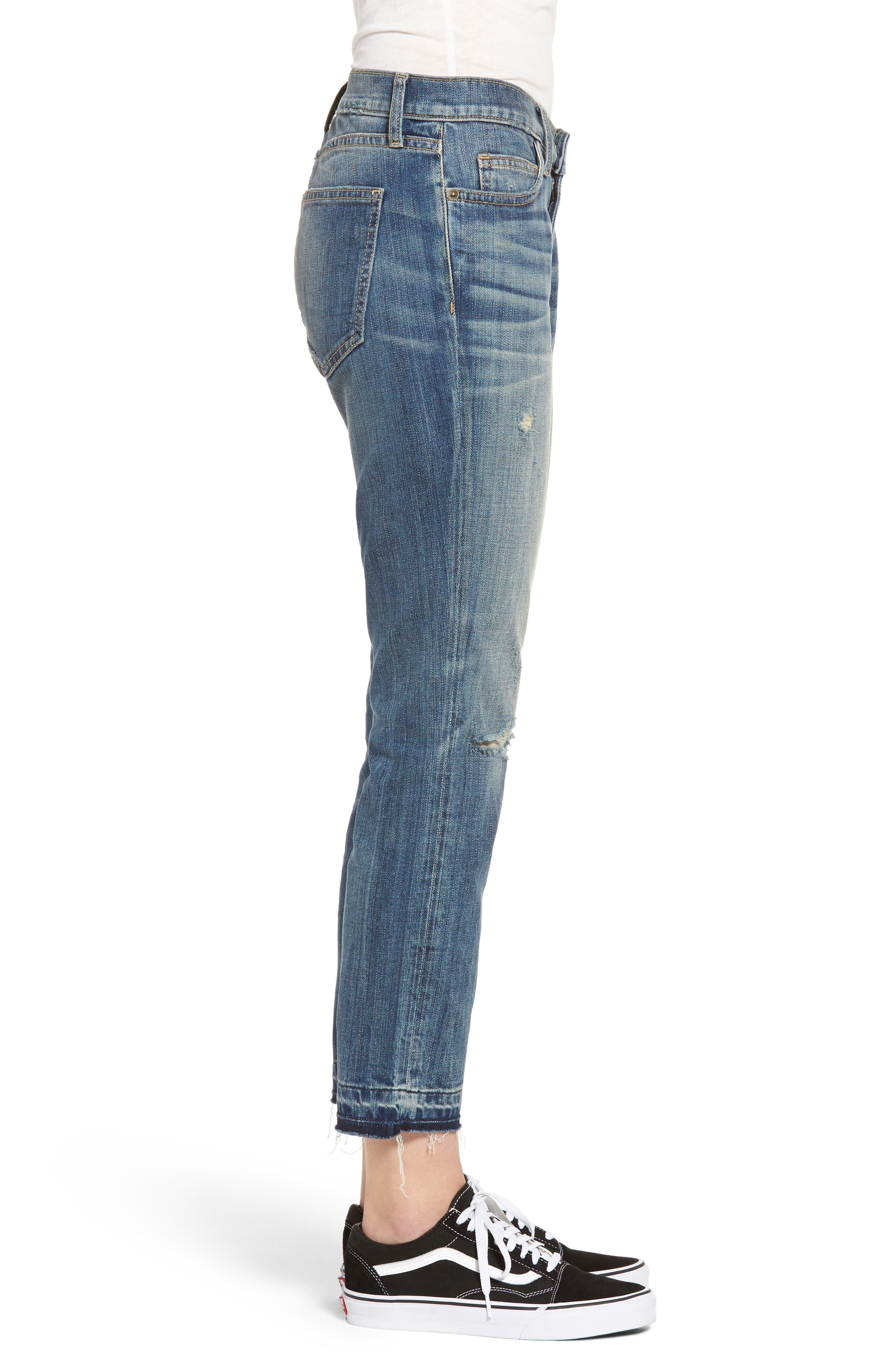Alternate Image 3  - Current/Elliott The Cropped Straight Released Hem Jeans