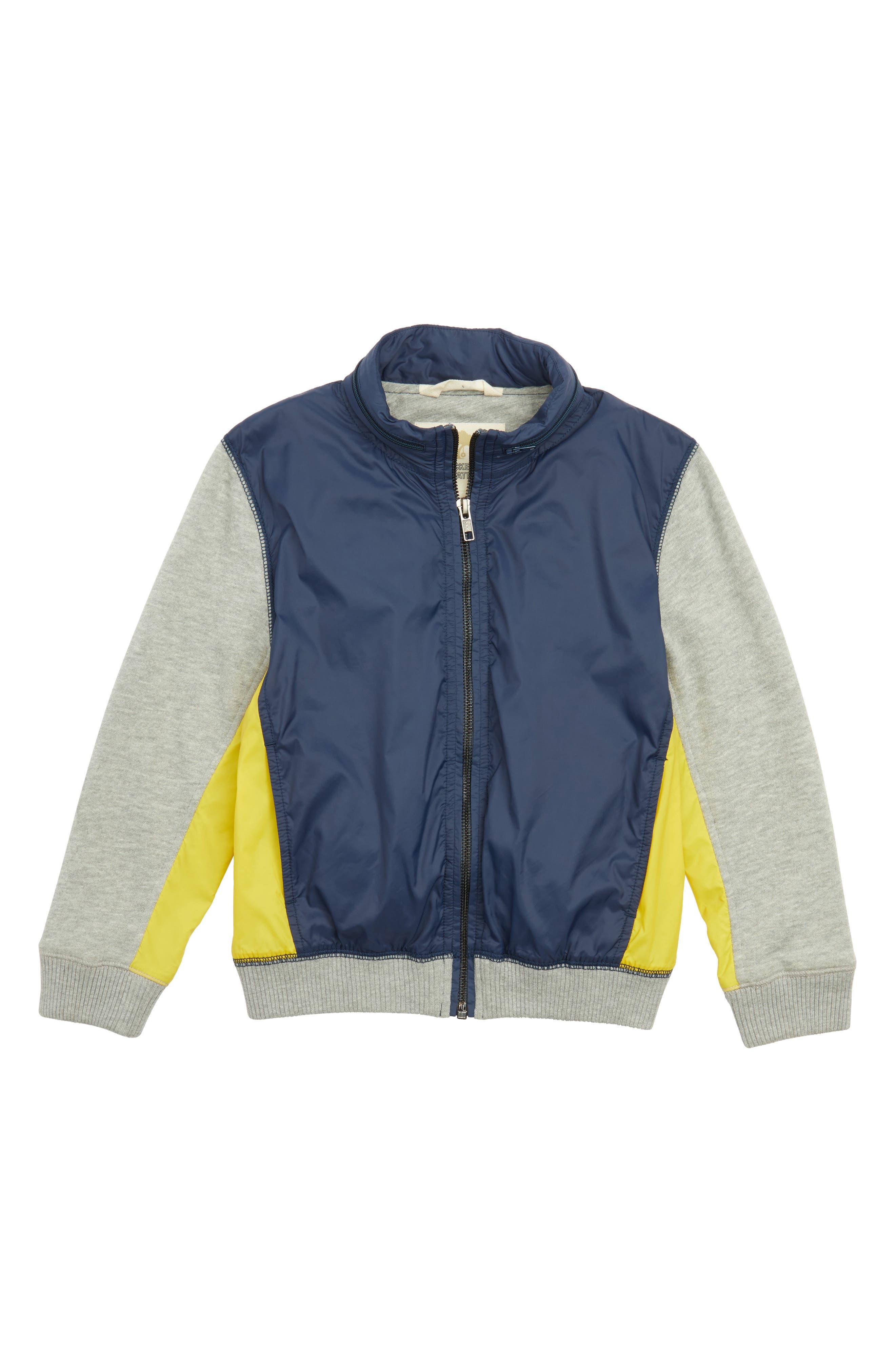 Nylon Jacket,                         Main,                         color, Navy Charcoal