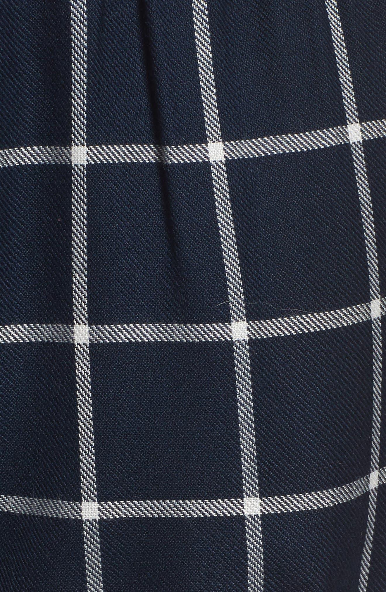 Alternate Image 5  - Topshop Windowpane Check Pajama Shorts