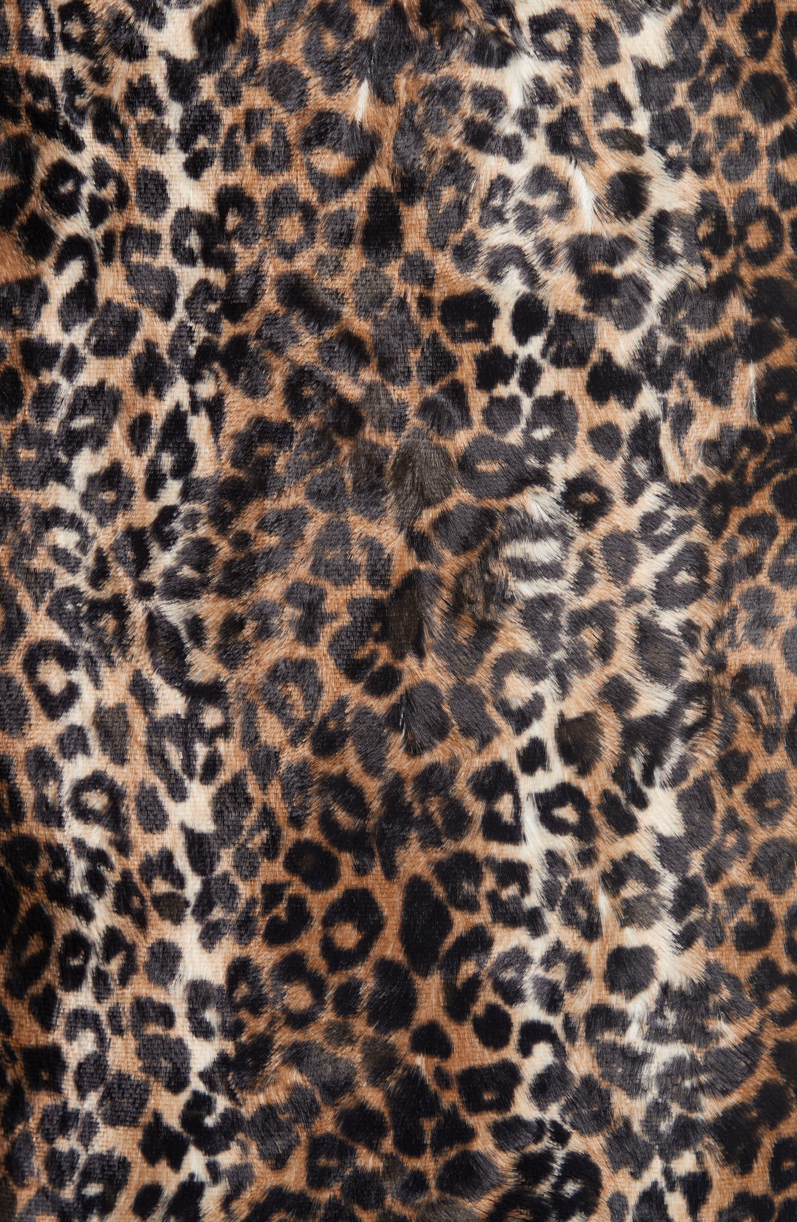 Alternate Image 5  - Rachel Comey Sling Cheetah Faux Fur Sheath Dress