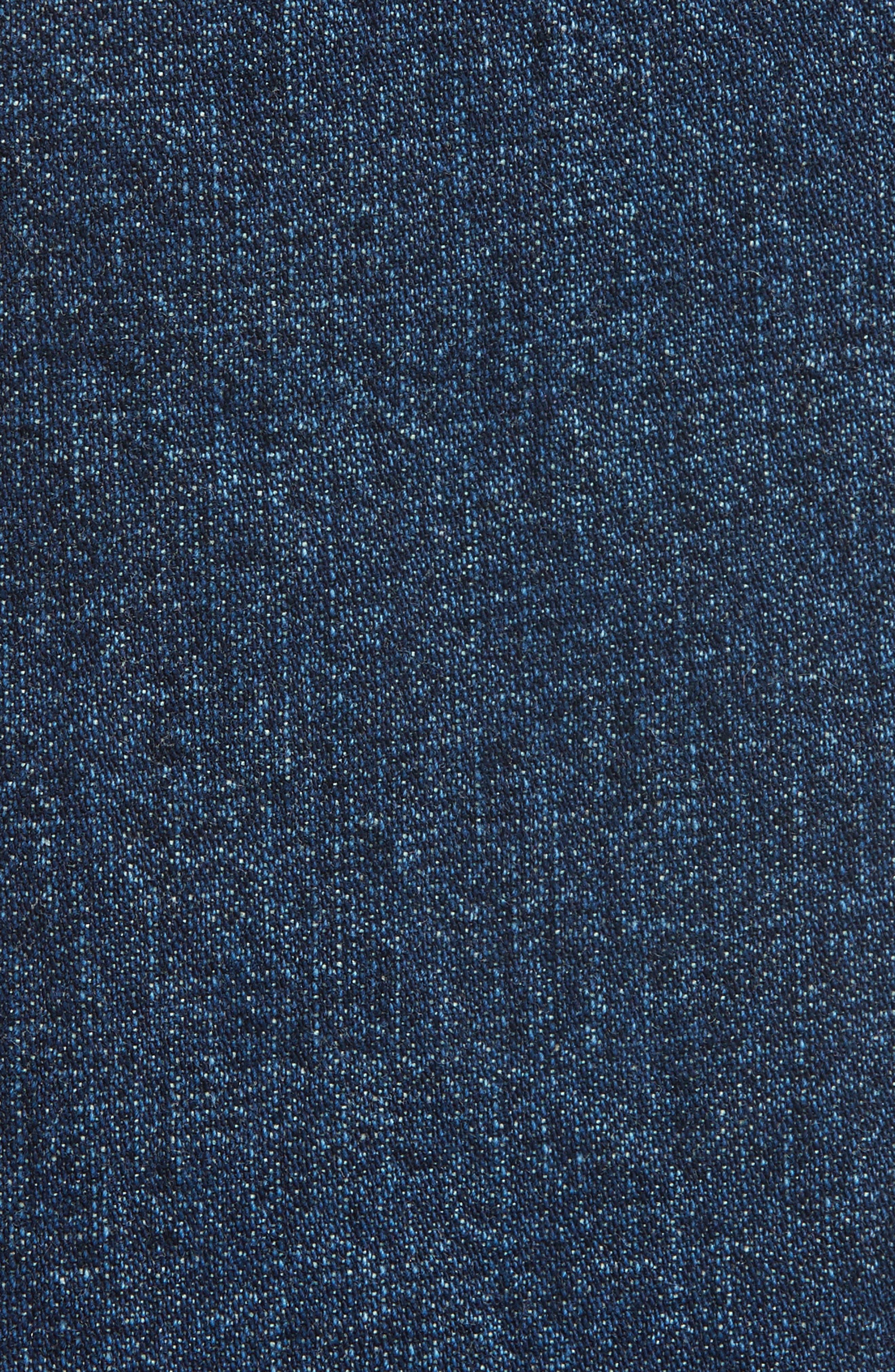 Long Trigger Straight Leg Jeans,                             Alternate thumbnail 5, color,                             Classic Indigo