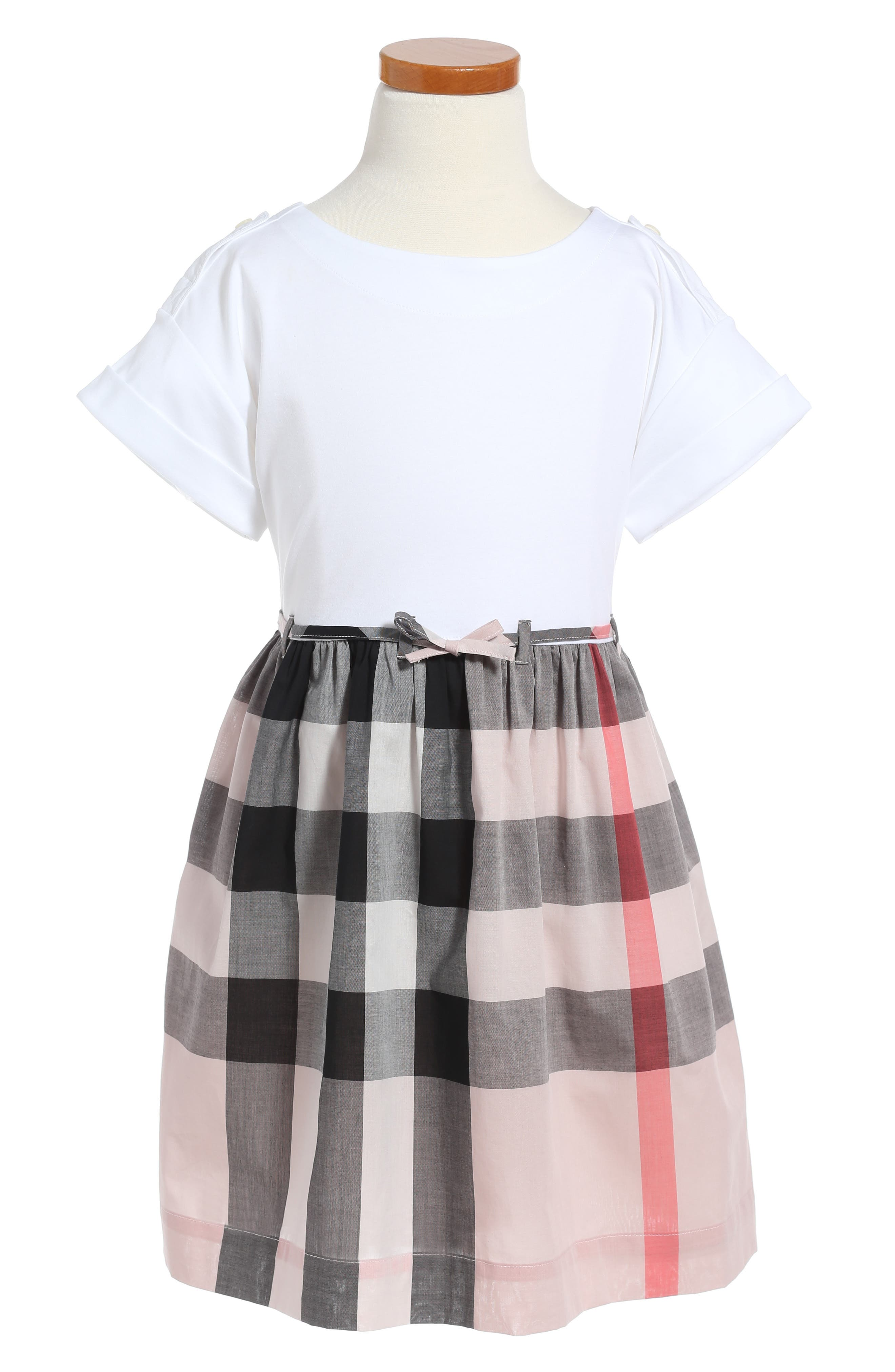Alternate Image 1 Selected - Burberry Rhonda Dress (Little Girls & Big Girls)