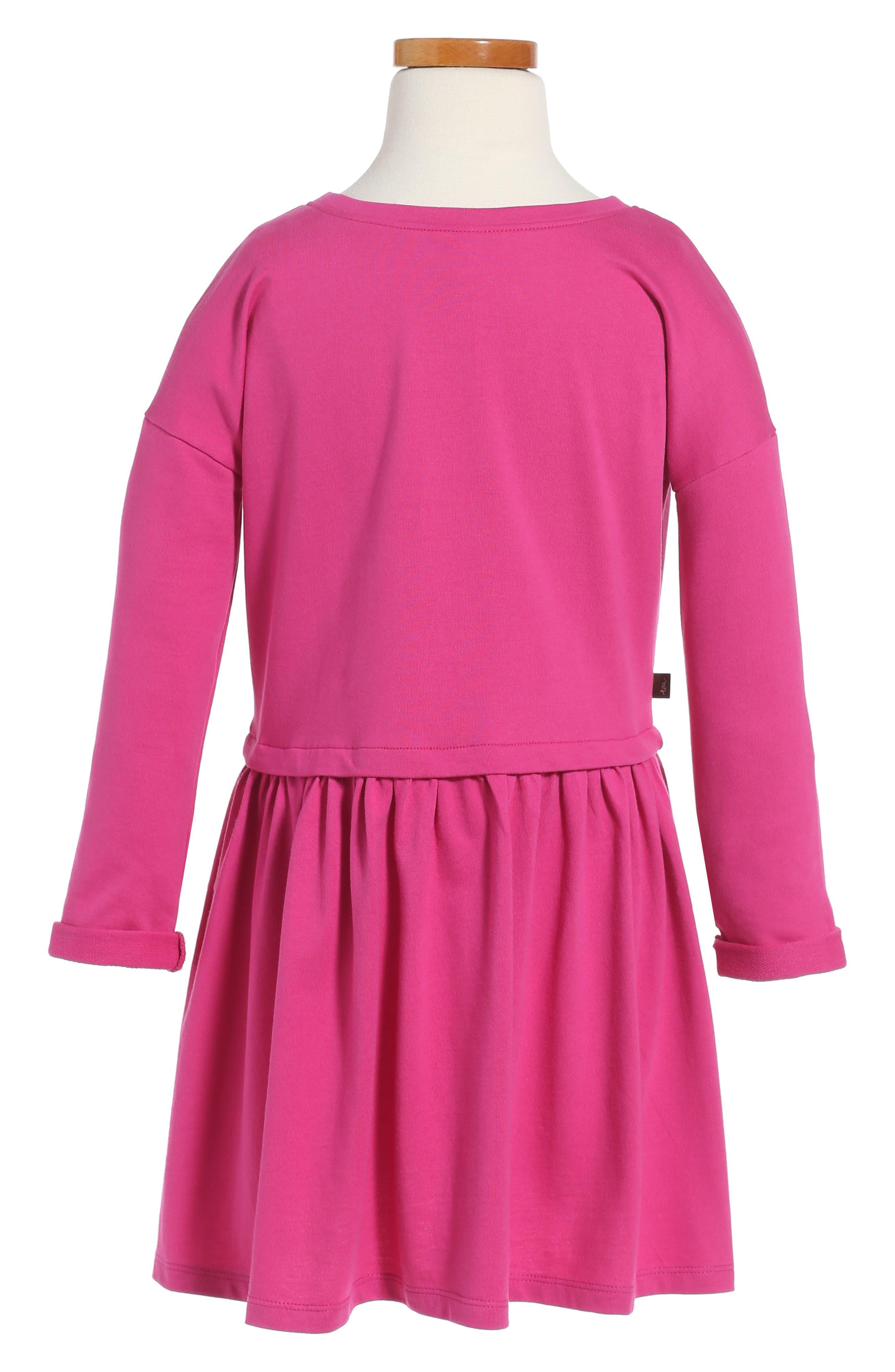 Alternate Image 2  - Tea Collection Solid Pocket Dress (Toddler Girls, Little Girls & Big Girls)