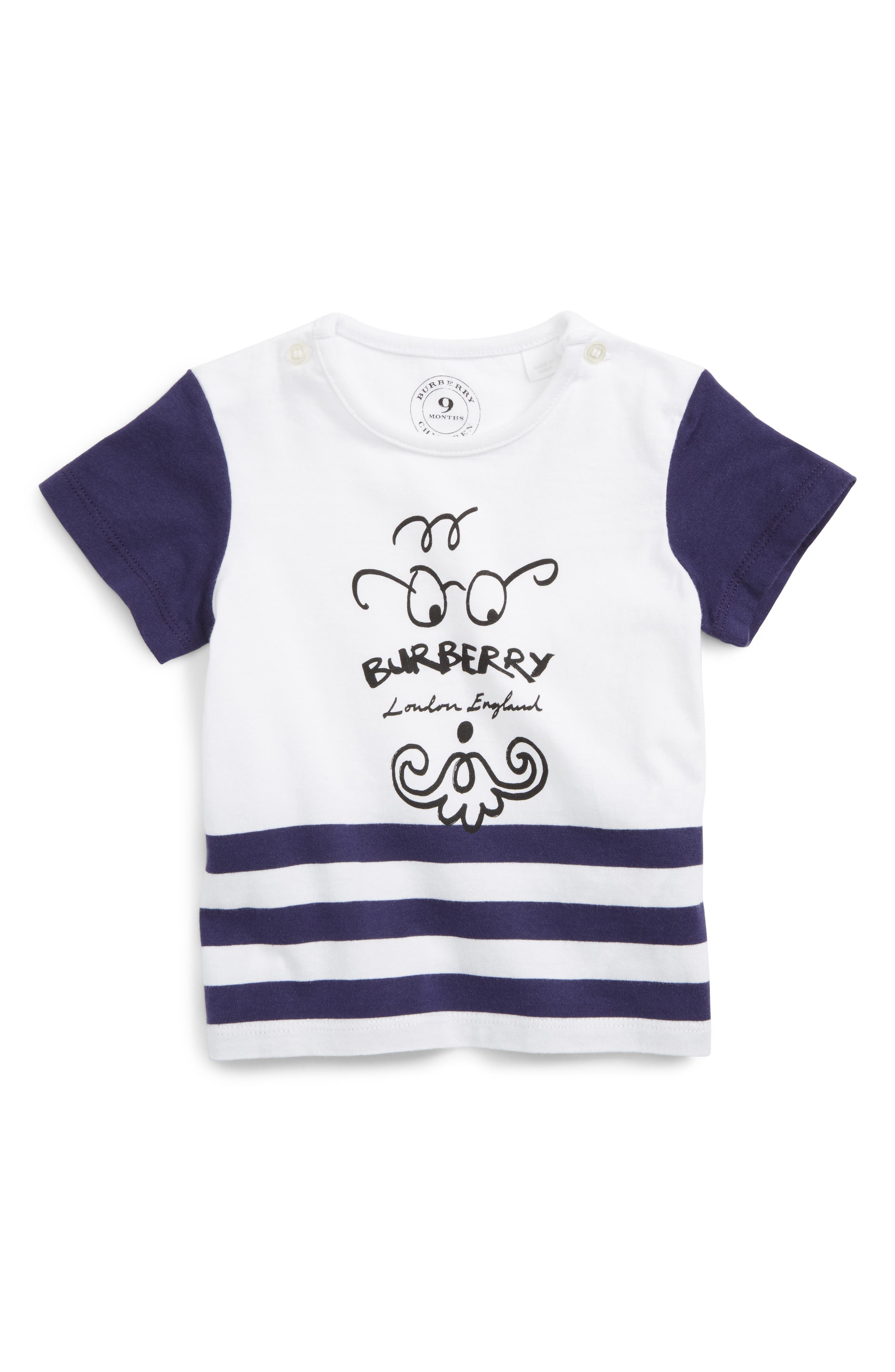 Main Image - Burberry Beard Gent Graphic T-Shirt (Baby Boys)