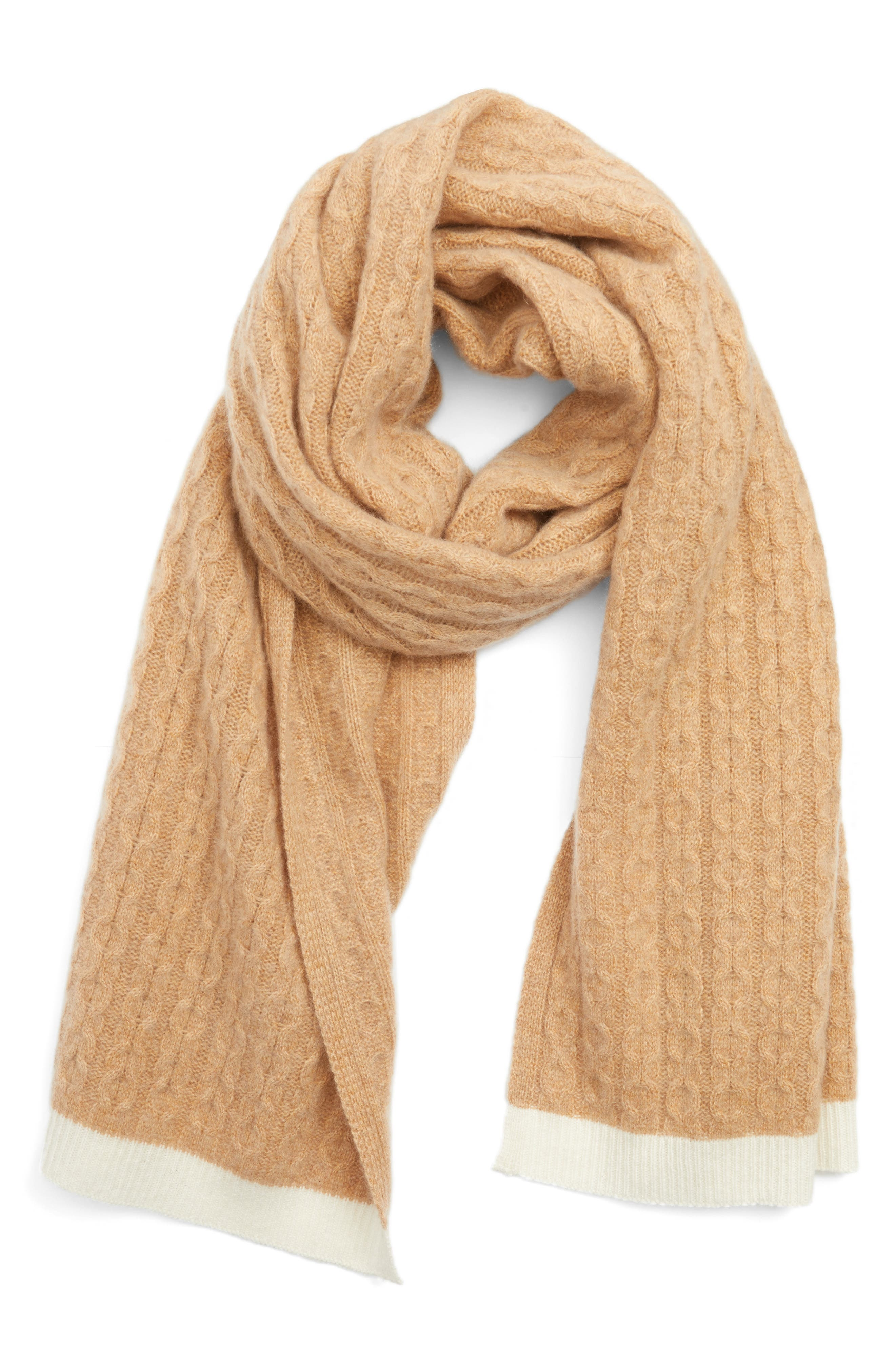 Alternate Image 3  - Halogen® Cable Knit Cashmere Scarf