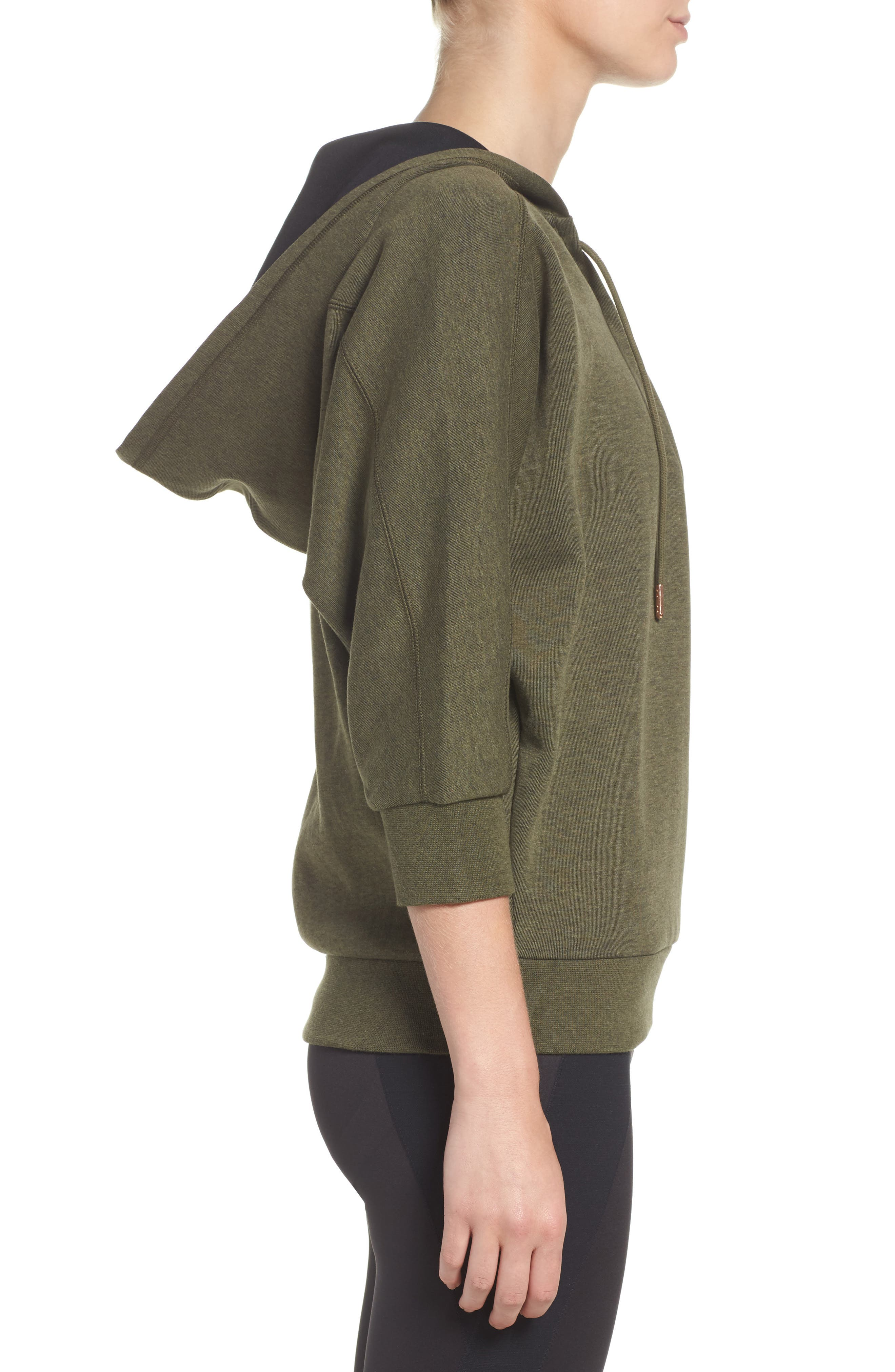 Alternate Image 3  - PUMA Yogini Lace-Up Hoodie
