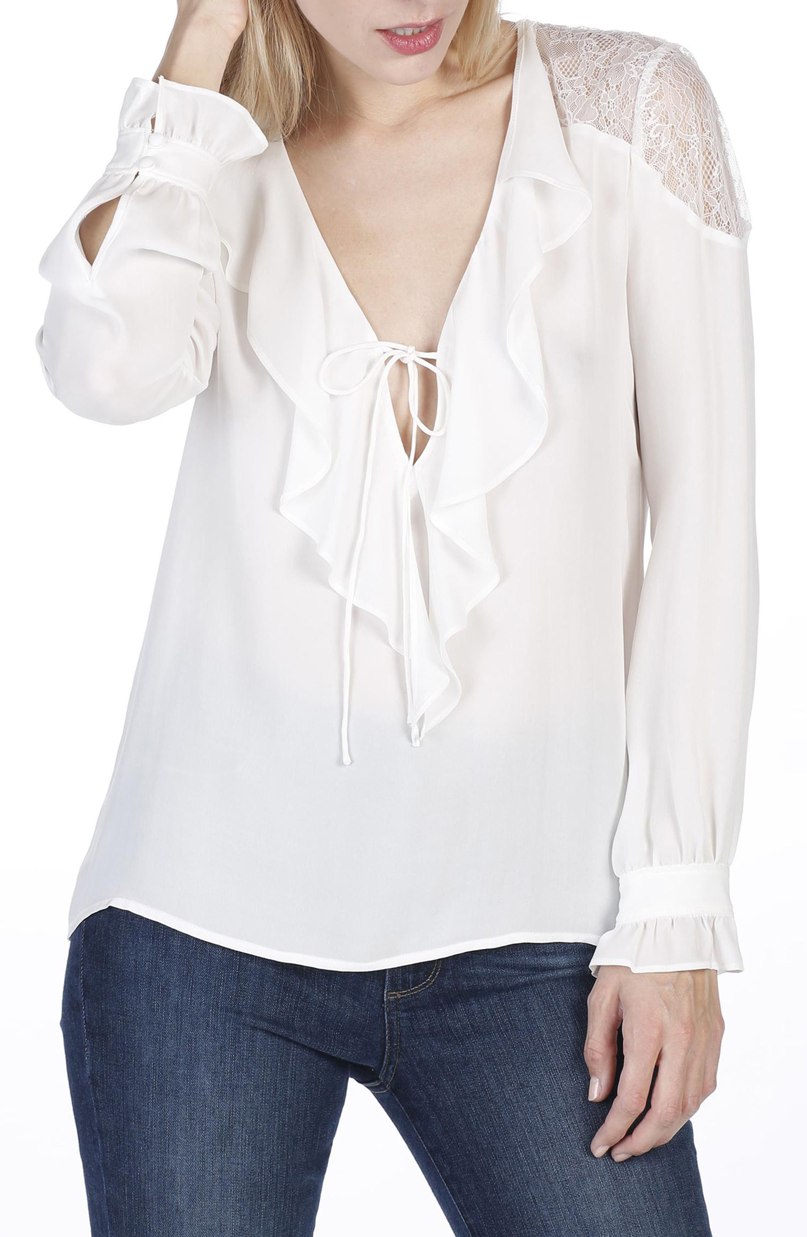 Celesse Blouse,                         Main,                         color, White