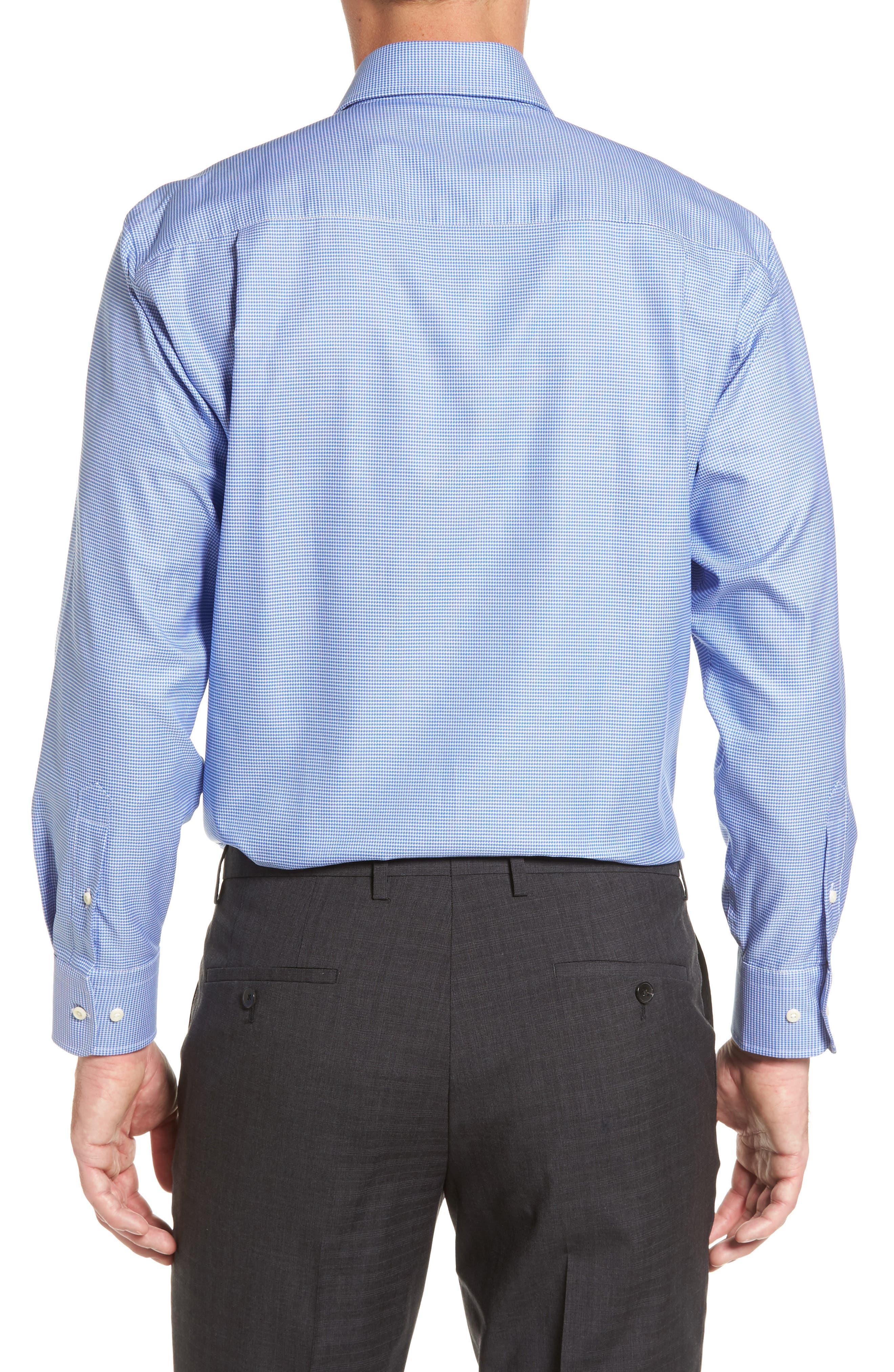 Alternate Image 2  - David Donahue Regular Fit Houndstooth Dress Shirt