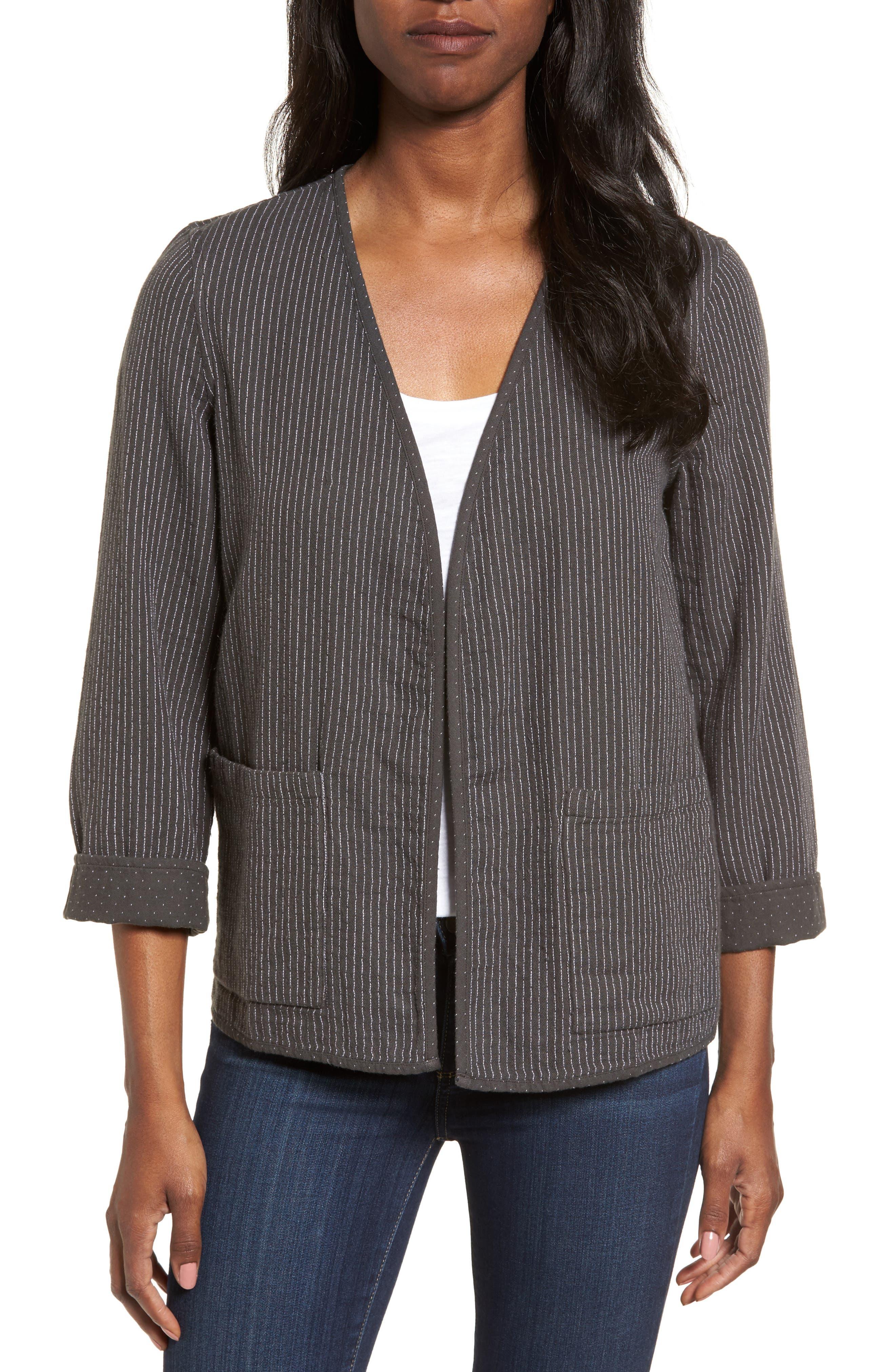 Alternate Image 1 Selected - Eileen Fisher Reversible Organic Cotton Jacket