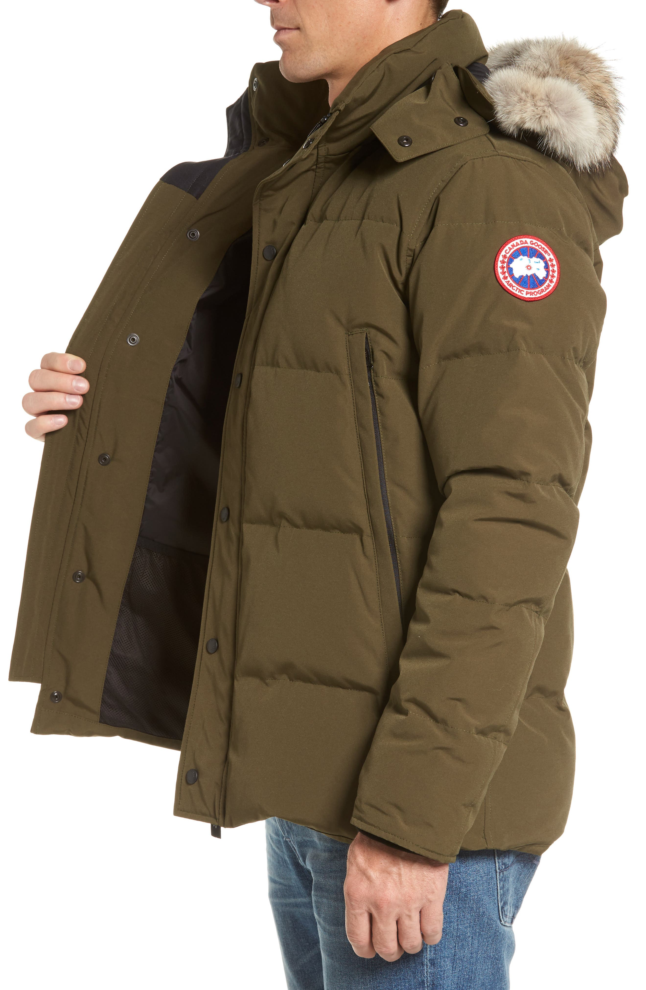 Alternate Image 6  - Canada Goose Wyndham Slim Fit Genuine Coyote Fur Trim Down Jacket