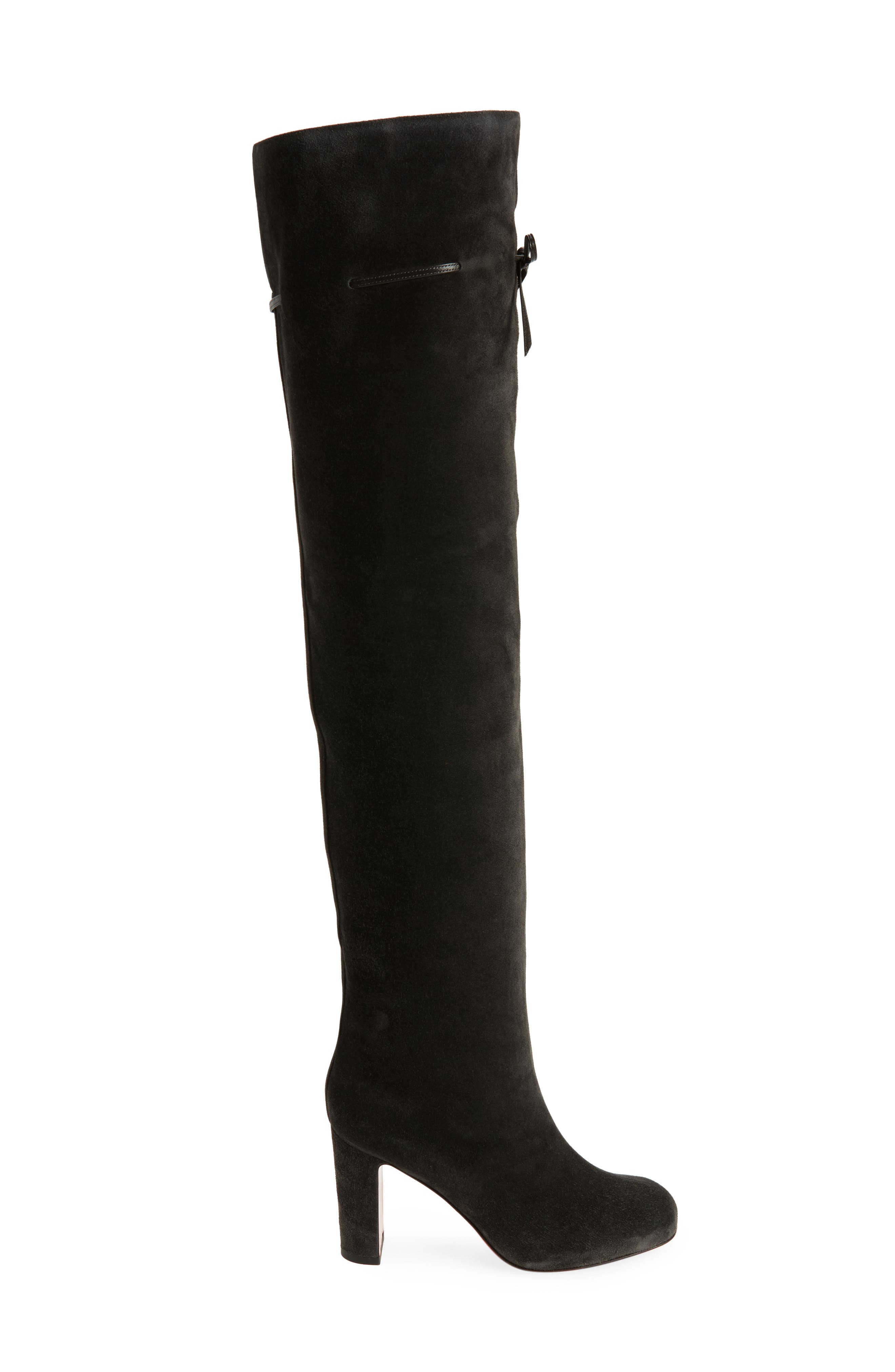 Alta Gant Over the Knee Boot,                             Alternate thumbnail 3, color,                             Grey Suede