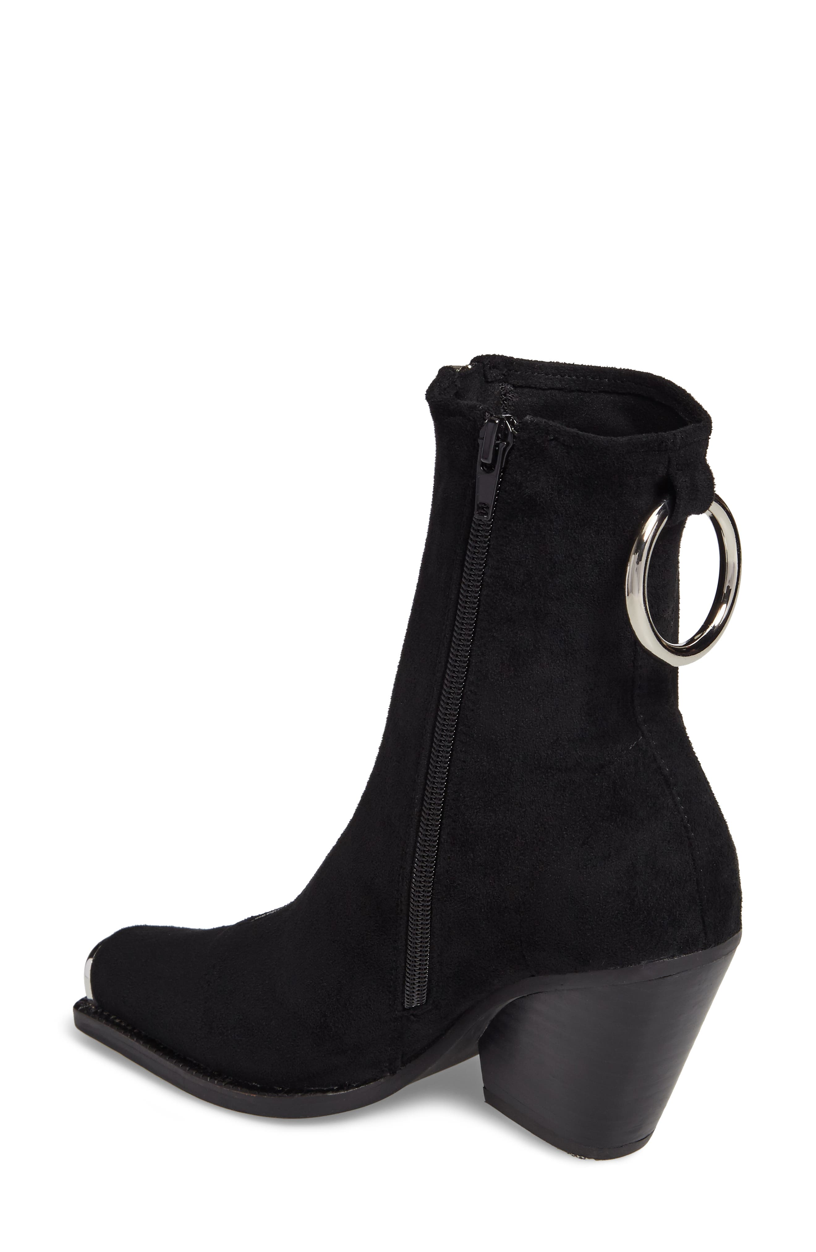 Eubank Stretch Bootie,                             Alternate thumbnail 2, color,                             Black Stretch Suede