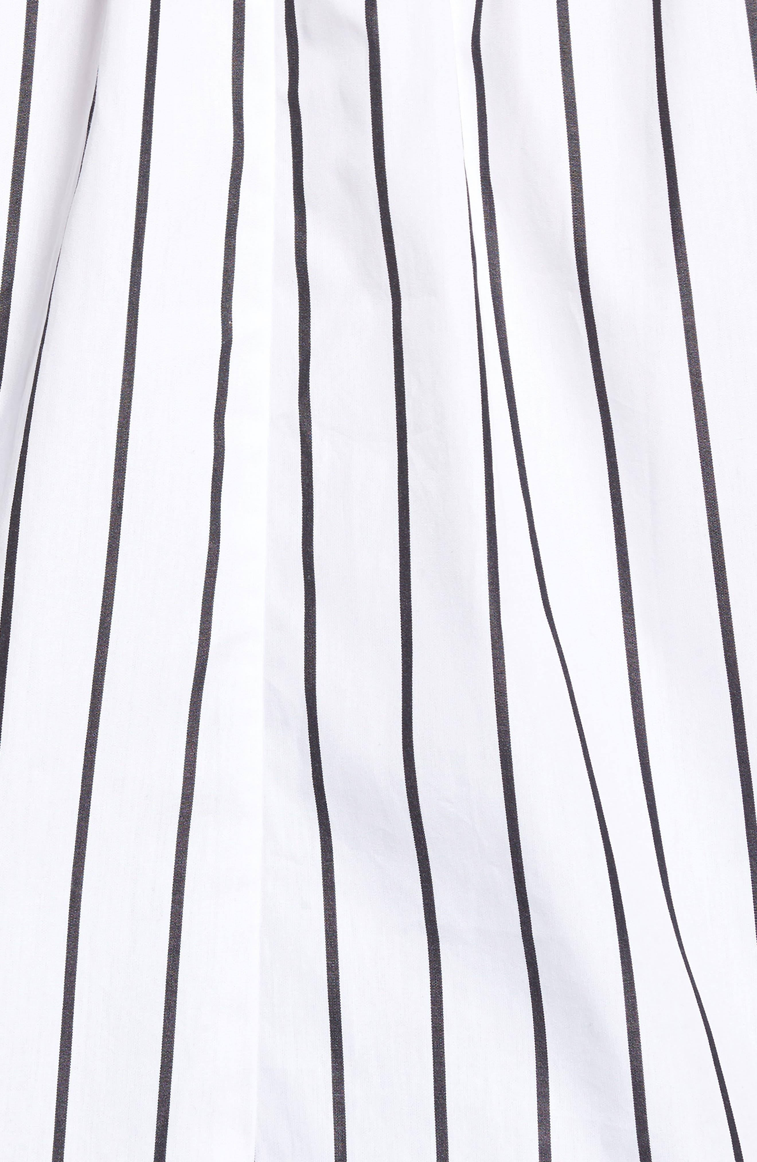 Stripe Off the Shoulder Top,                             Alternate thumbnail 5, color,                             White Space Stripe