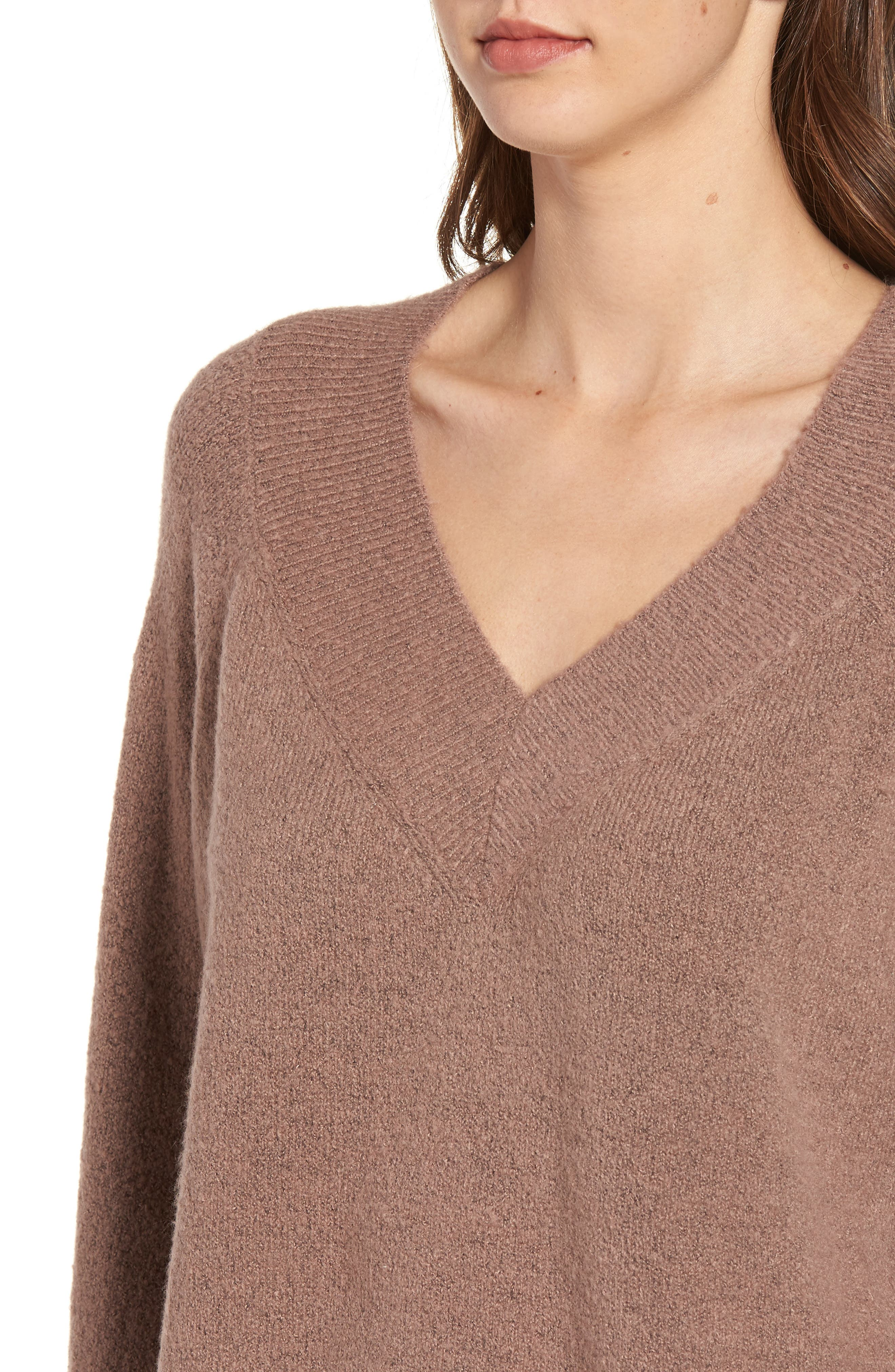 Bell Sleeve Sweater,                             Alternate thumbnail 4, color,                             Brown Taupe
