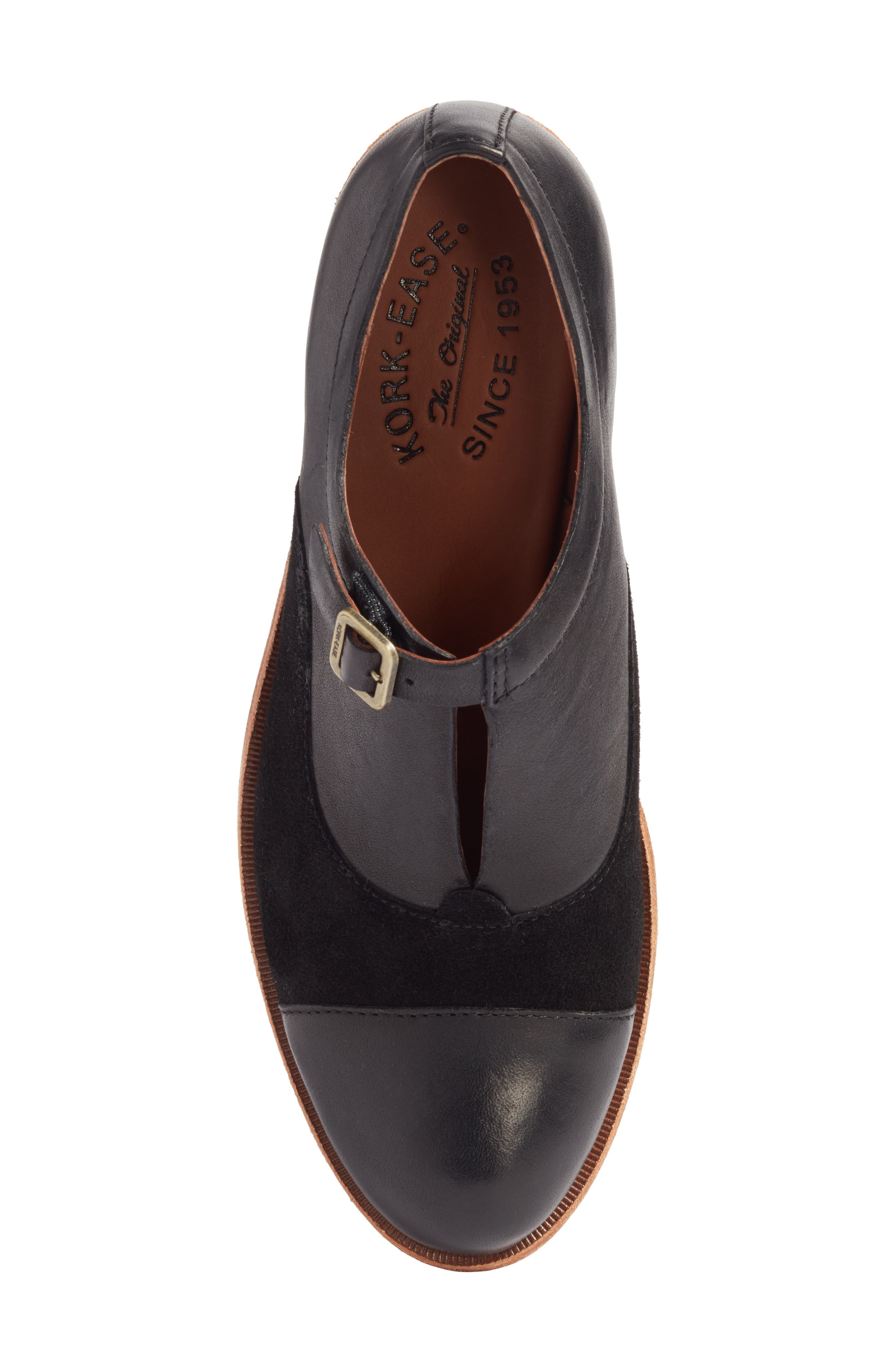 'Niseda' Oxford,                             Alternate thumbnail 8, color,                             Black Leather Suede Combo