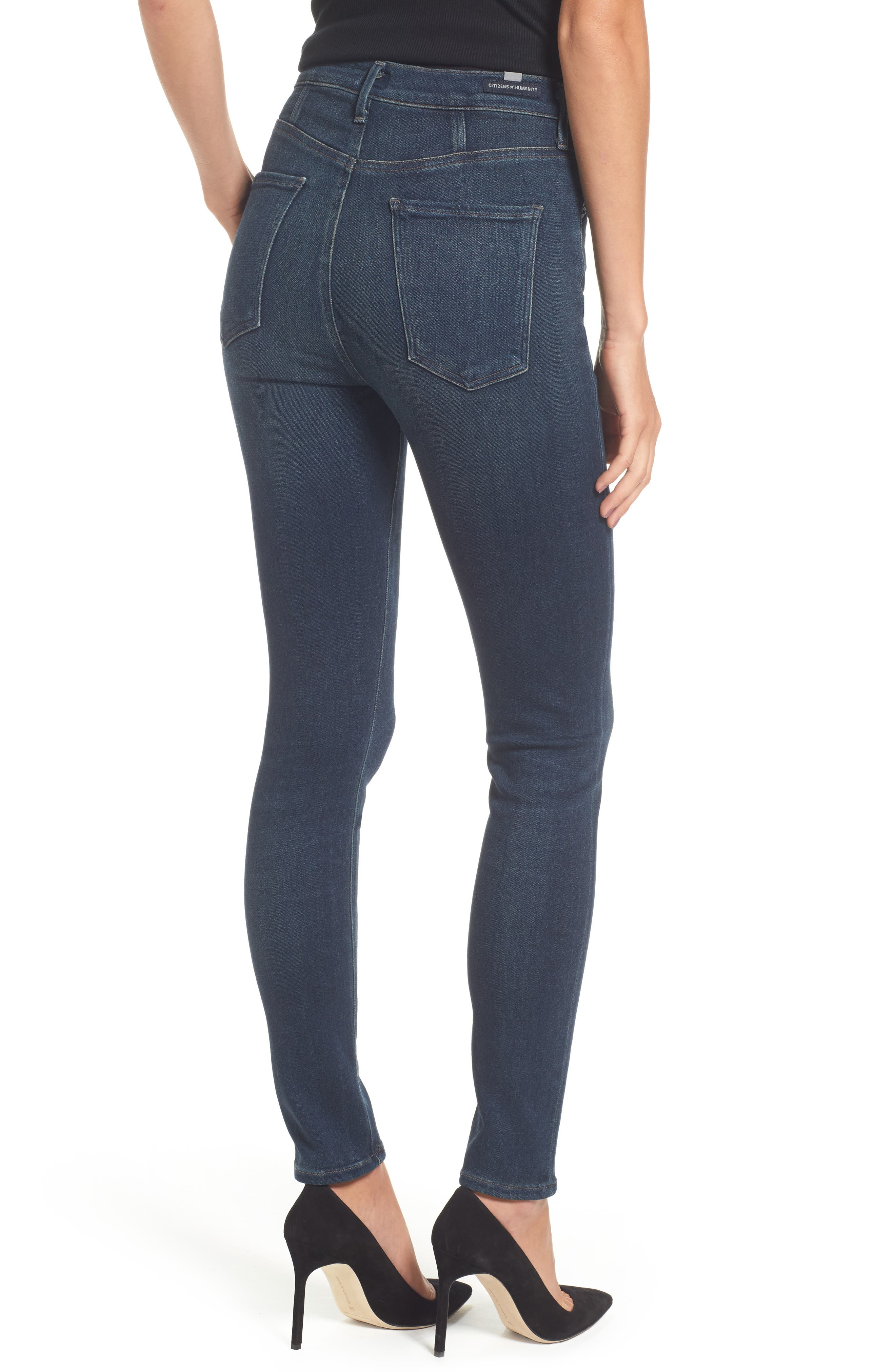 Alternate Image 2  - Citizens of Humanity Chrissy High Waist Skinny Jeans (Haze)