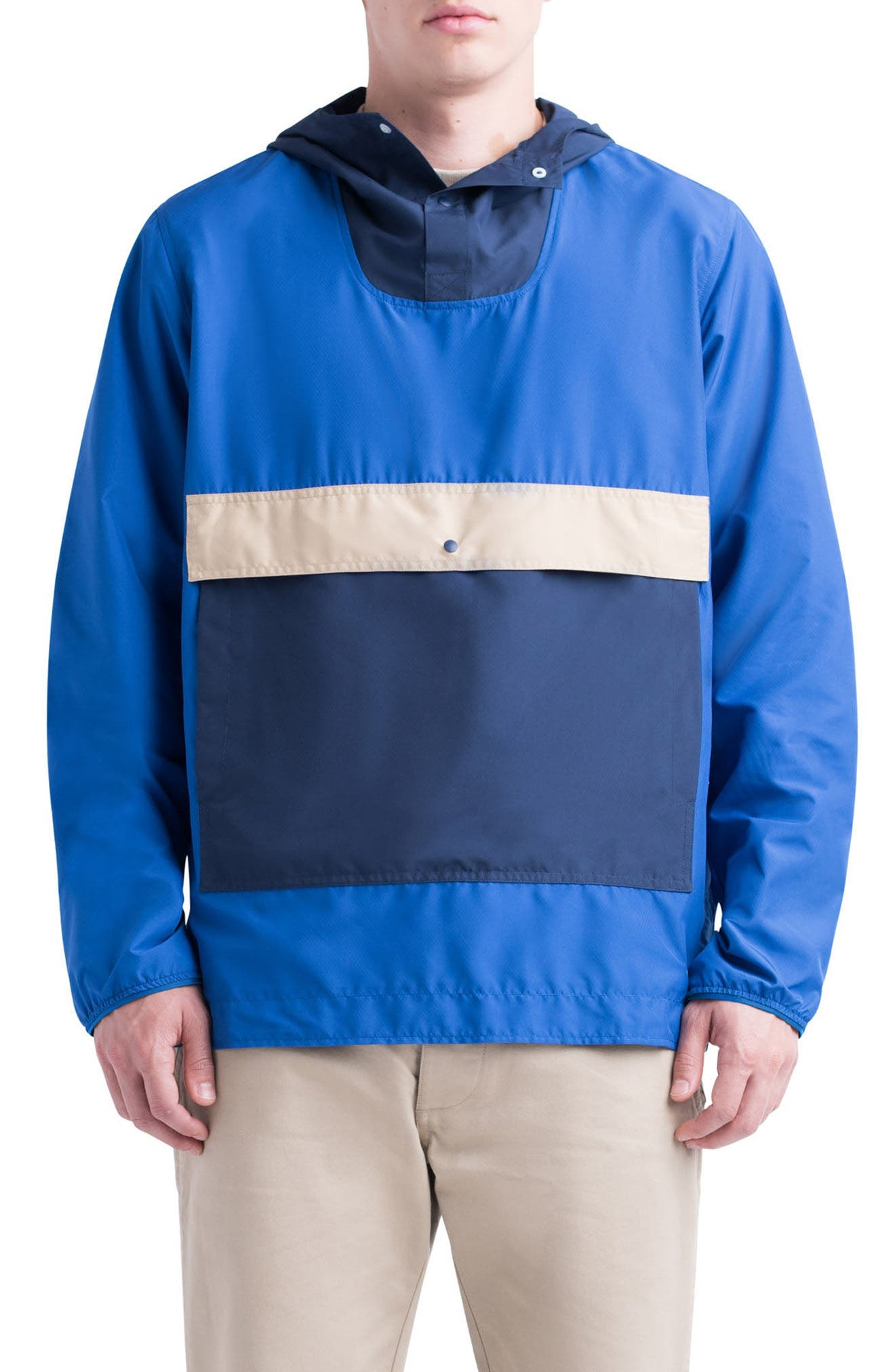 Voyage Anorak,                         Main,                         color, Surf The Web/ Peacoat/ Incense