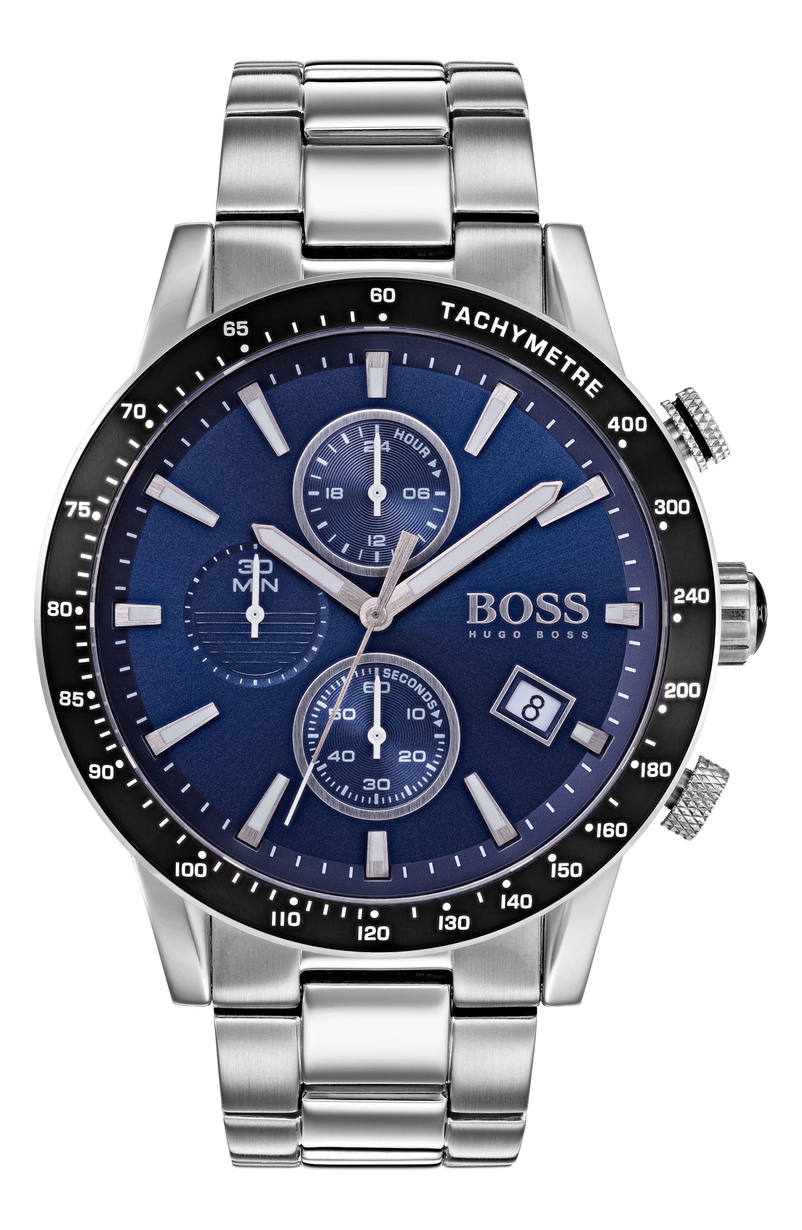 Main Image - BOSS Rafale Chronograph Bracelet Watch, 45mm