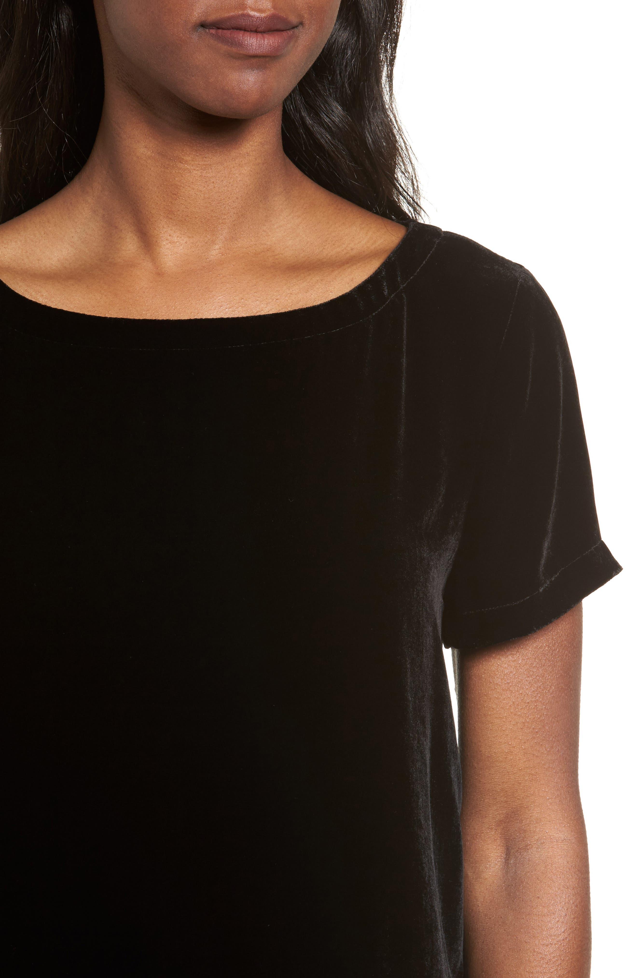Alternate Image 4  - Eileen Fisher Velvet Top (Regular & Petite)