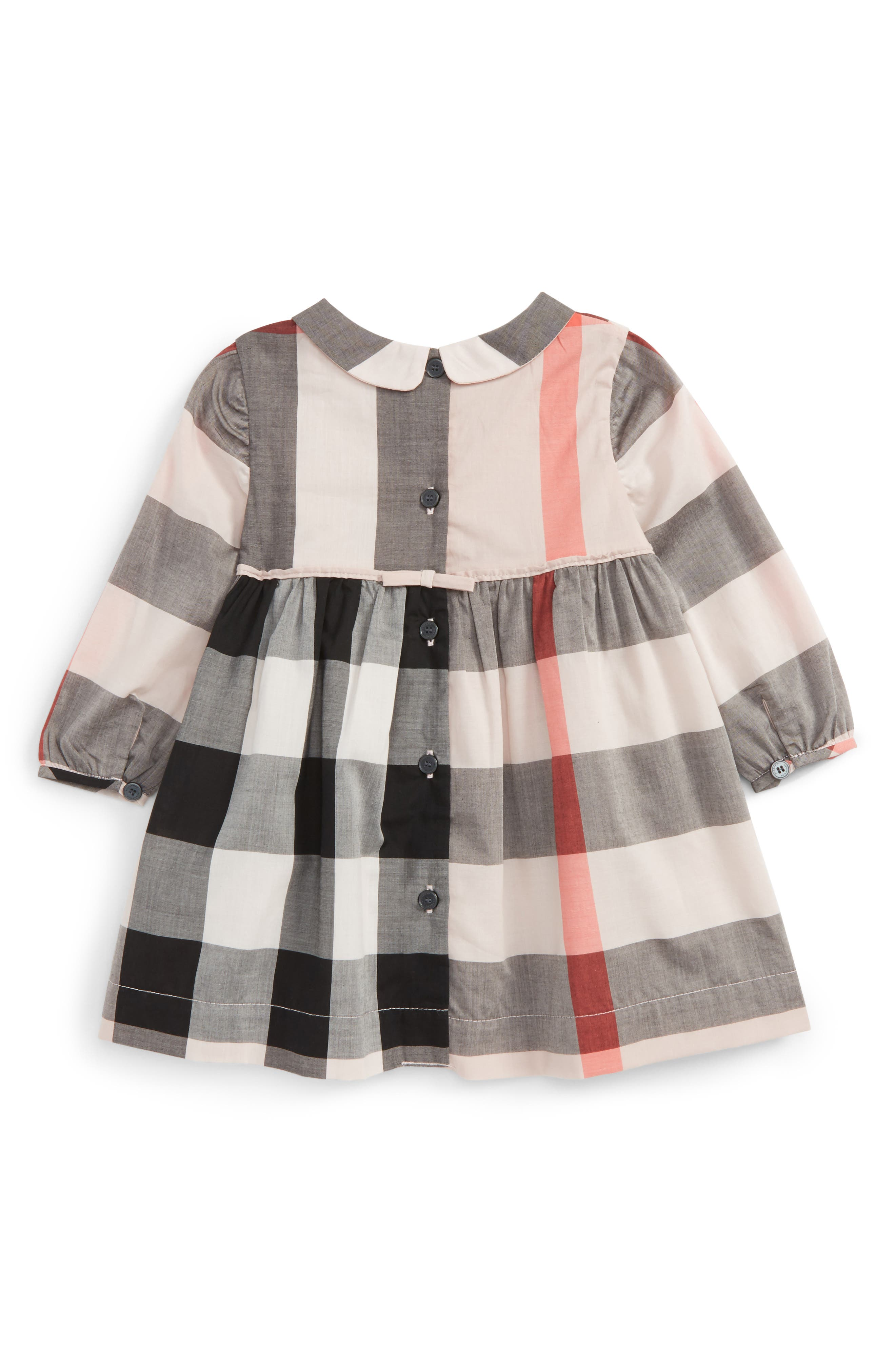 Alternate Image 2  - Burberry Liza Check Dress (Baby Girls)