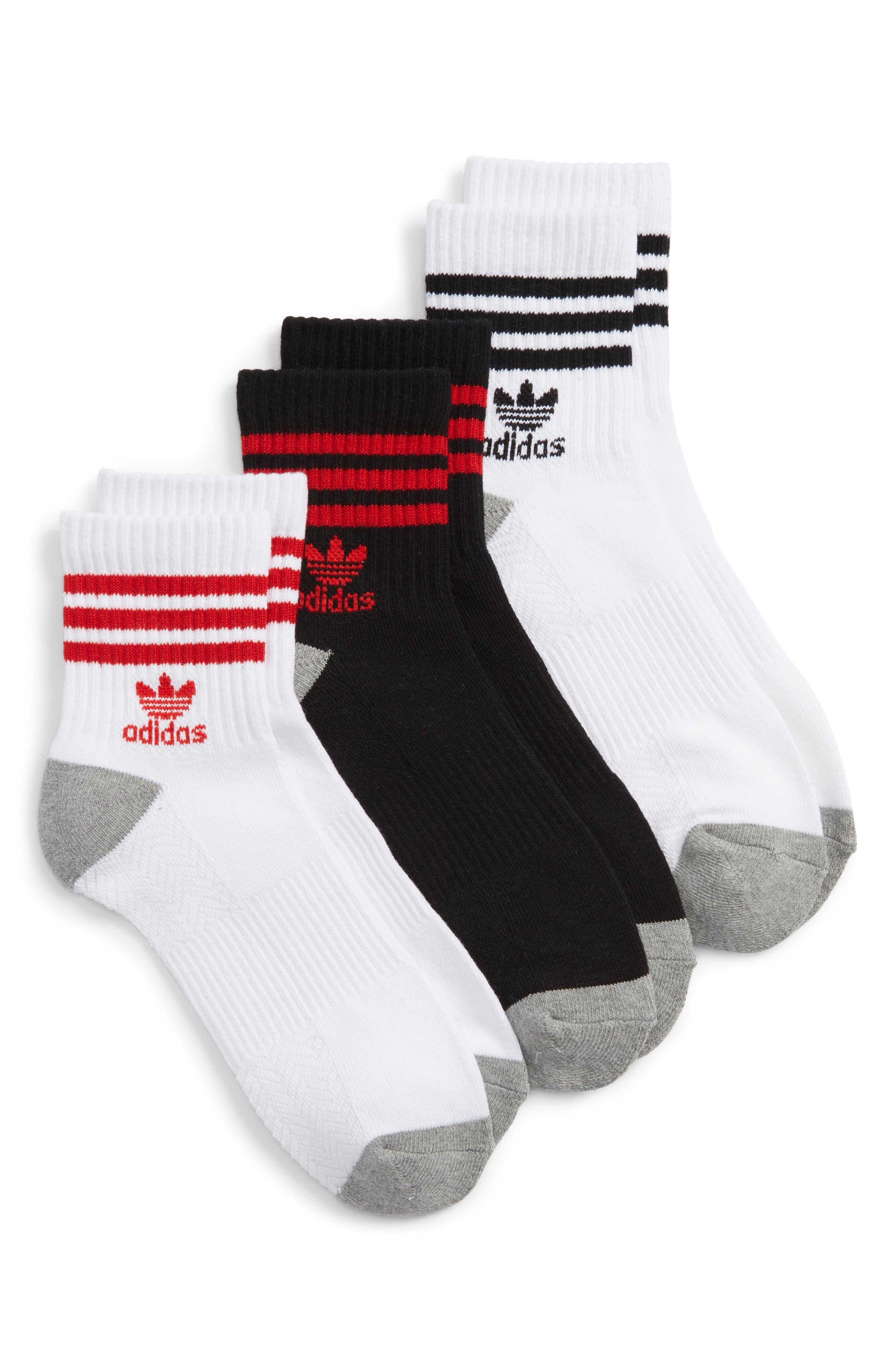 adidas quarter socks. adidas originals 3-pack quarter crew socks