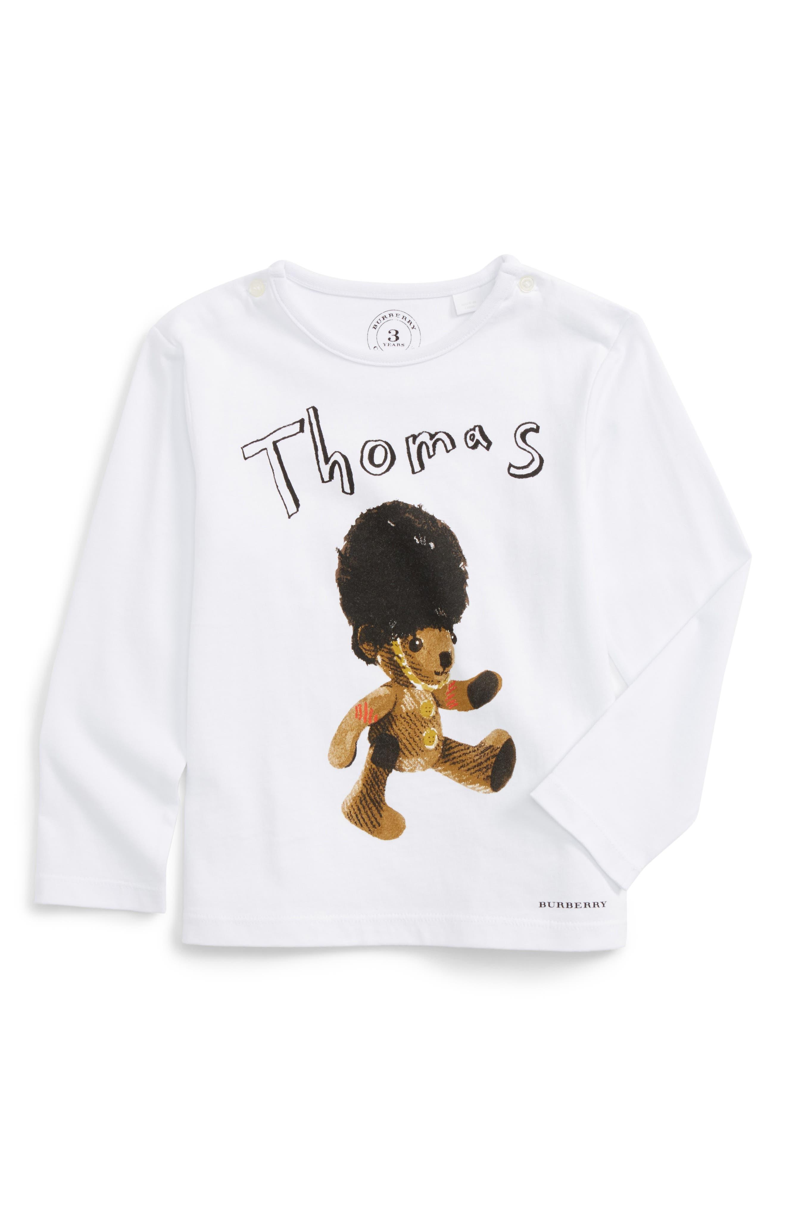 Thomas Bear Graphic T-Shirt,                         Main,                         color, White