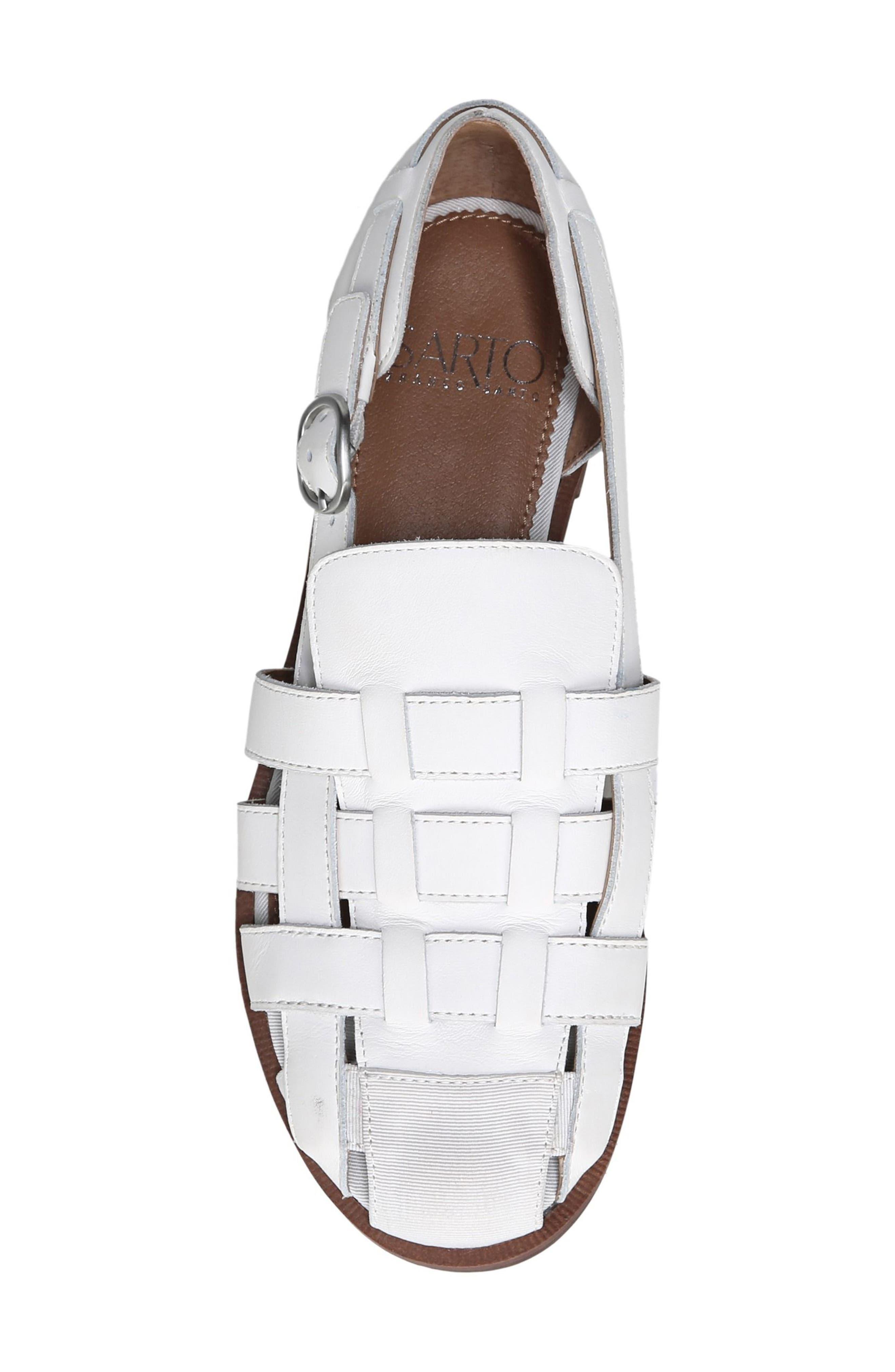 Lulu Fisherman Sandal,                             Alternate thumbnail 5, color,                             Bright White Leather