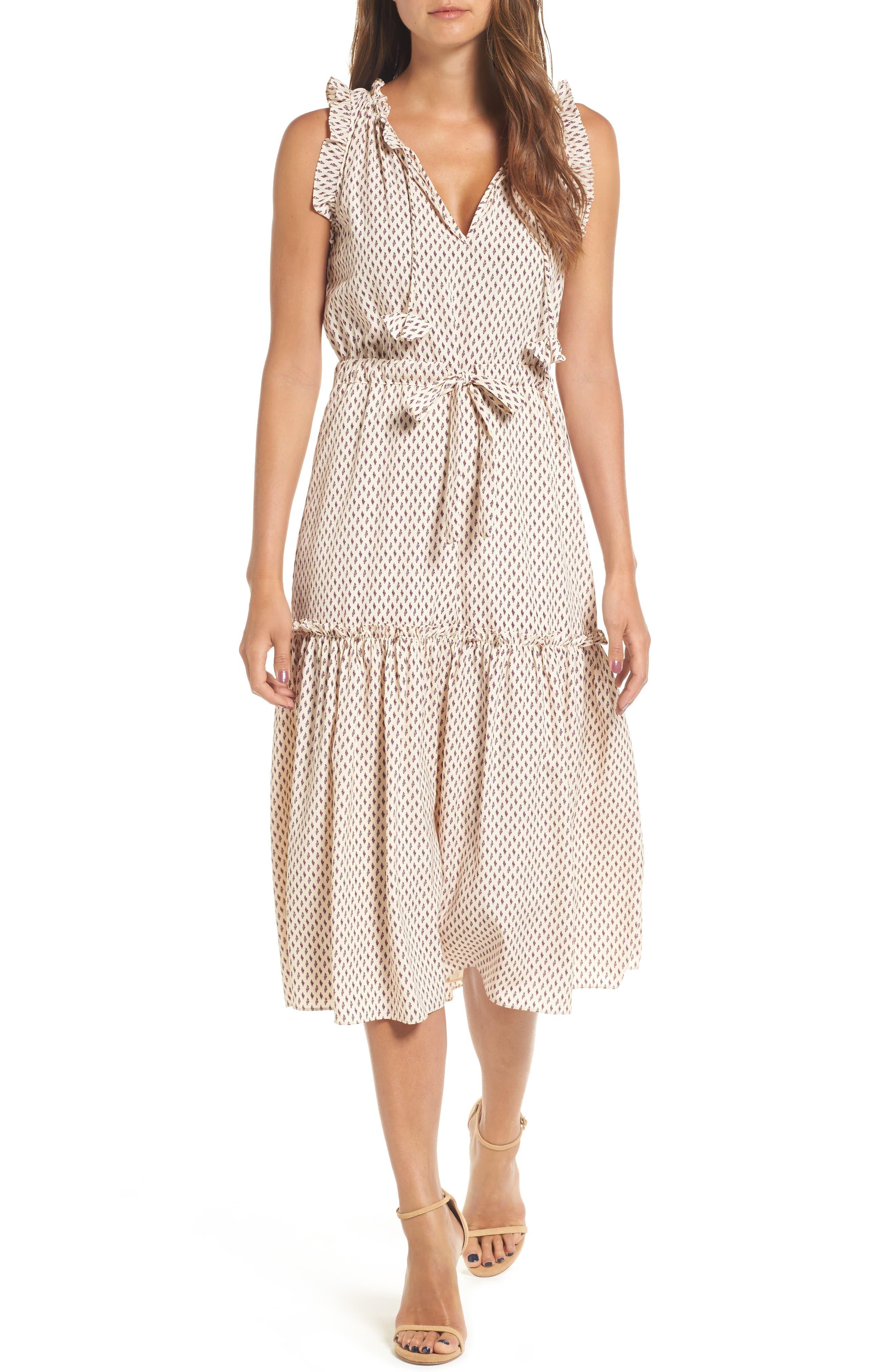 Alternate Image 1 Selected - MISA Los Angeles Martina Midi Dress
