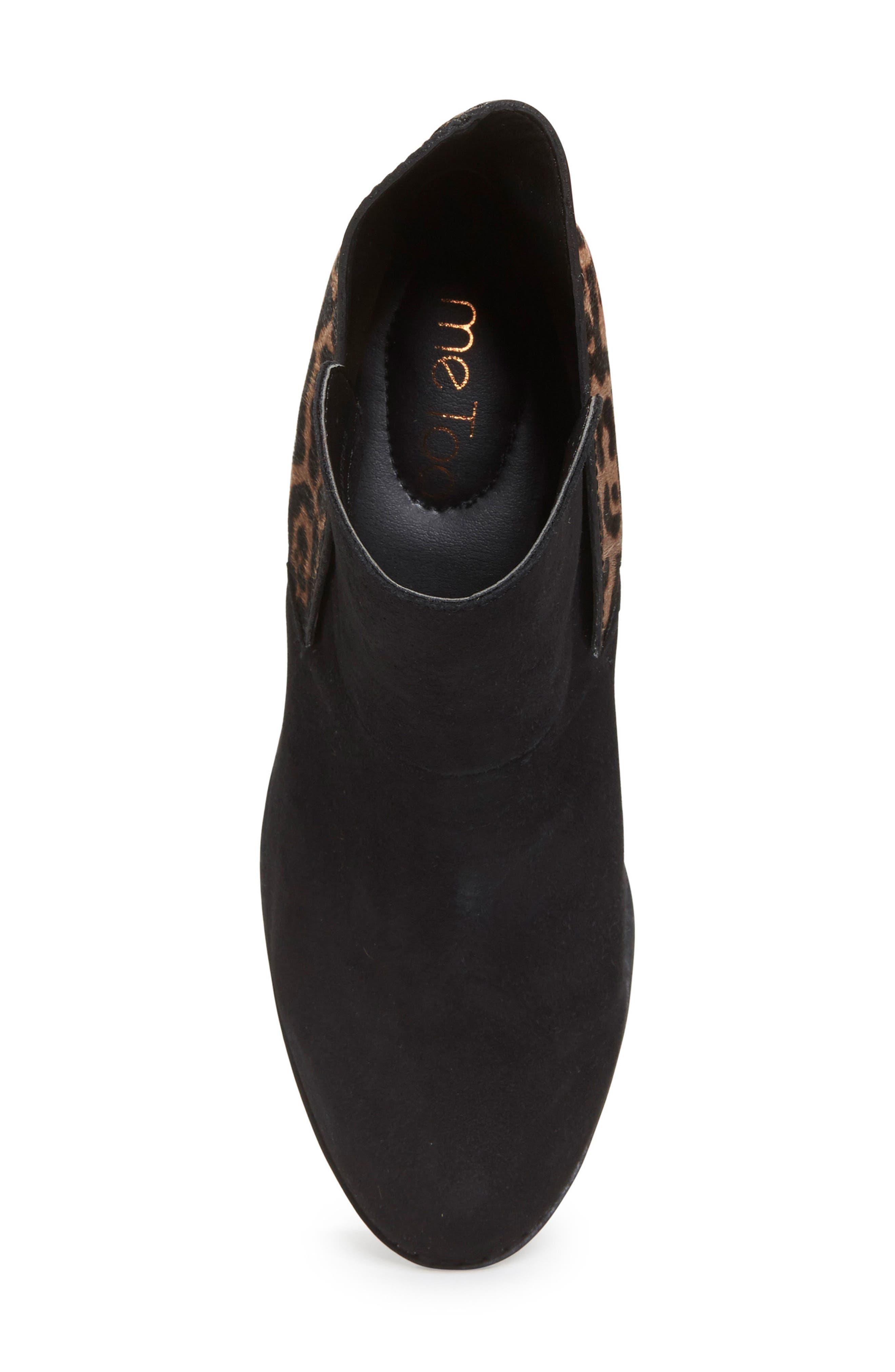 Zena Ankle Boot,                             Alternate thumbnail 5, color,                             Black/ Ash Jaguar Suede