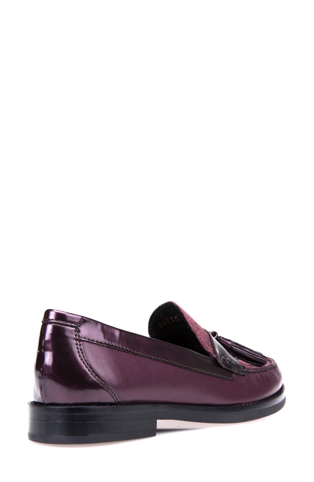 Promethea Loafer,                             Alternate thumbnail 3, color,                             Prune Leather