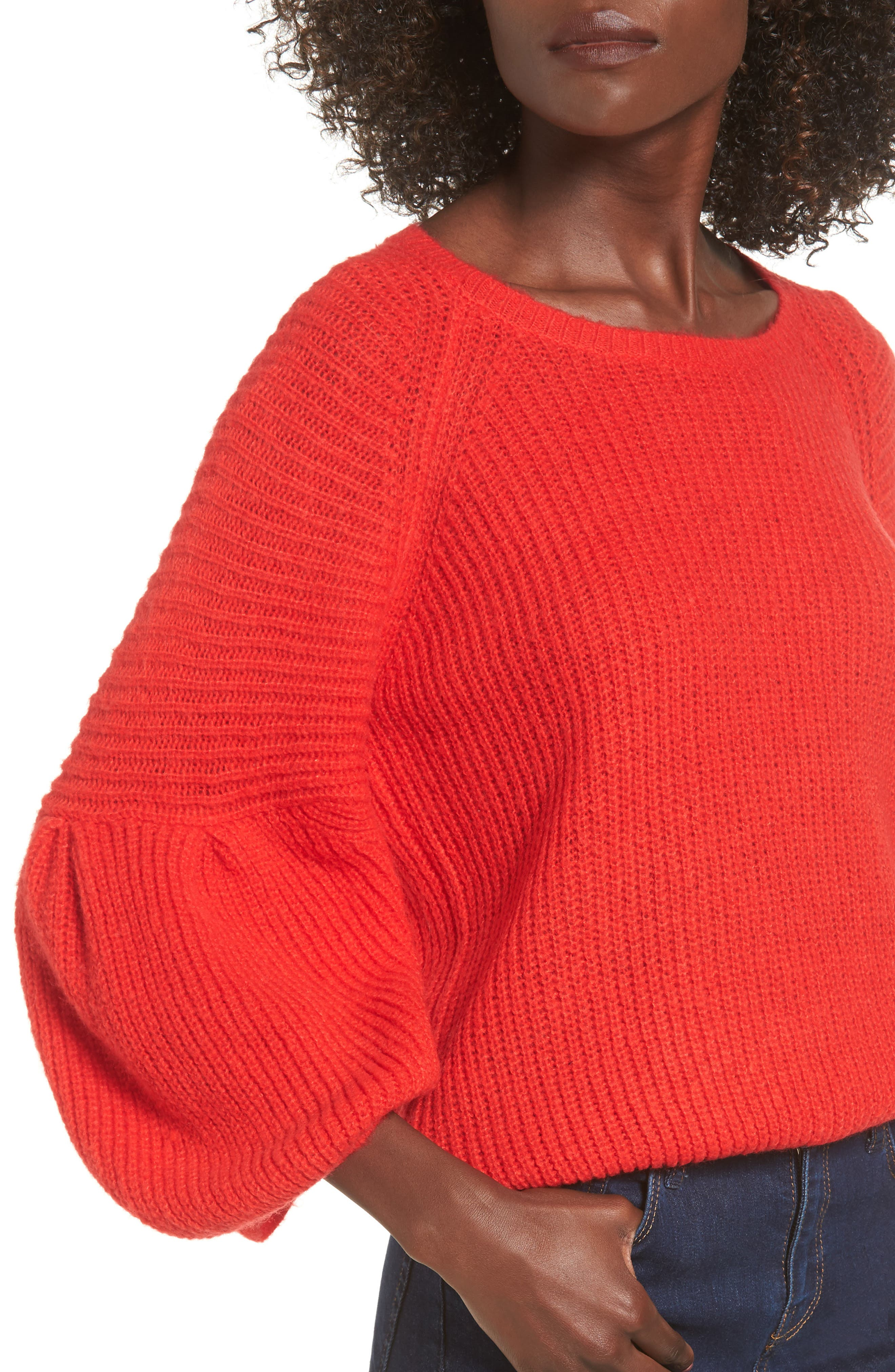 Alternate Image 4  - Leith Bubble Sleeve Sweater