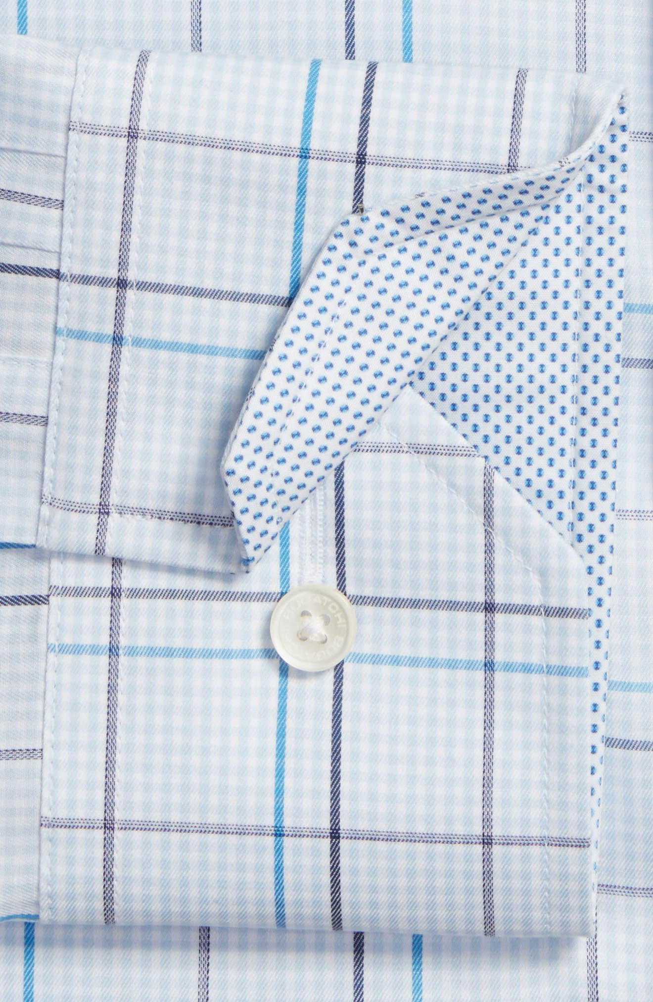 Alternate Image 2  - Bugatchi Trim Fit Plaid Dress Shirt