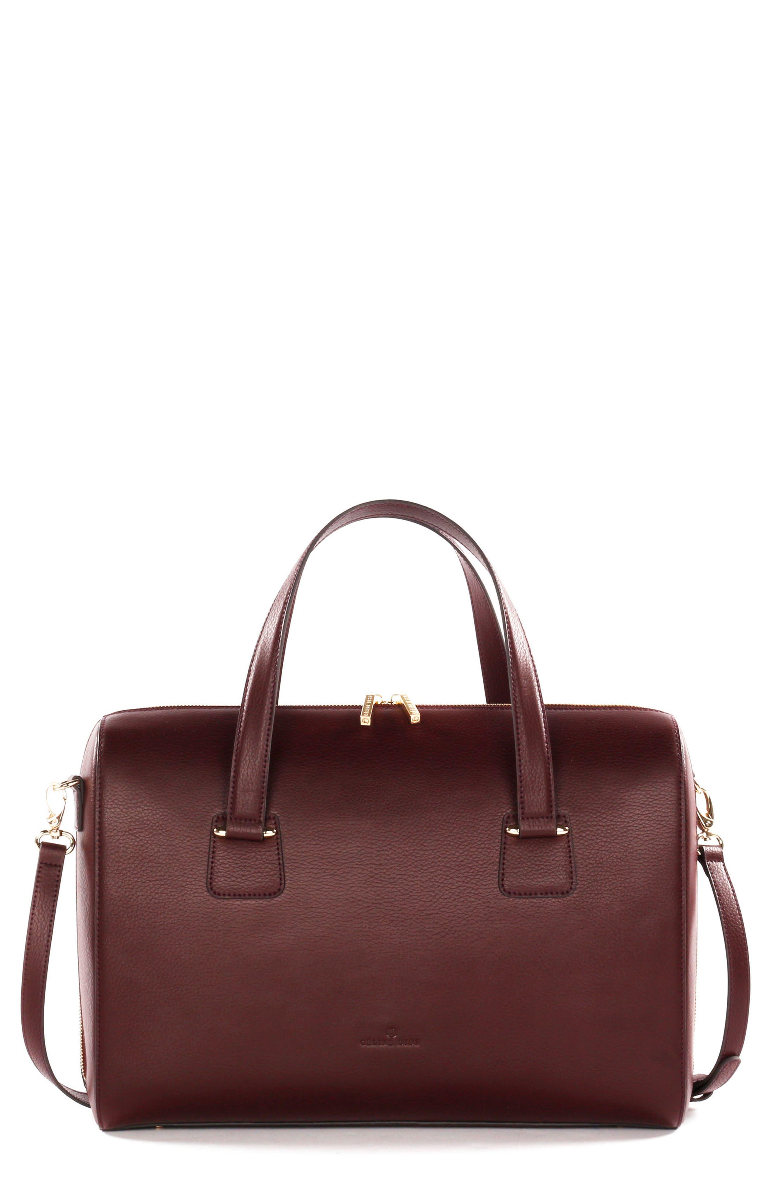 Alternate Image 1 Selected - Céline Dion Triad Leather Satchel