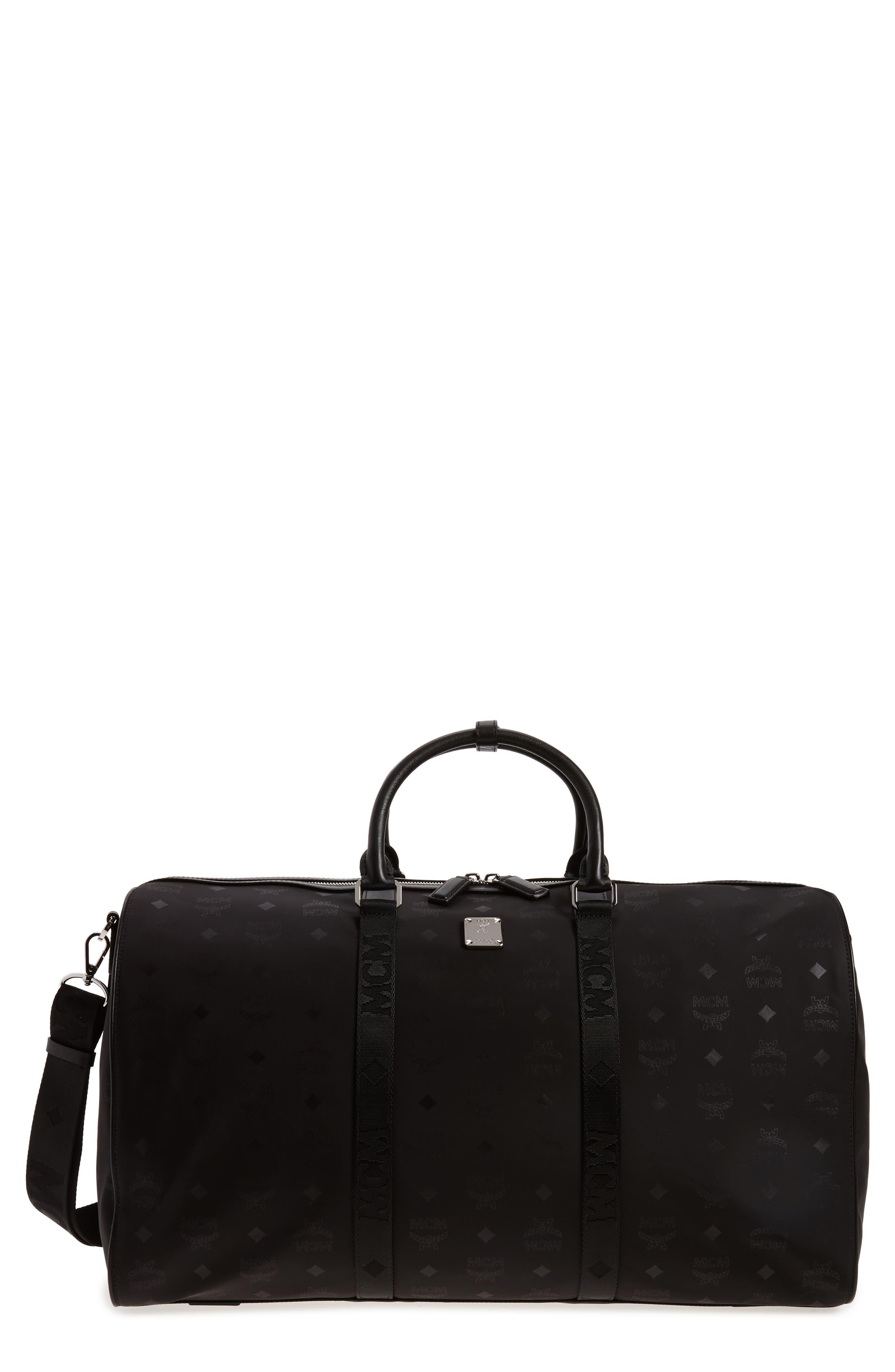 Alternate Image 1 Selected - MCM Logo Nylon Duffel Bag