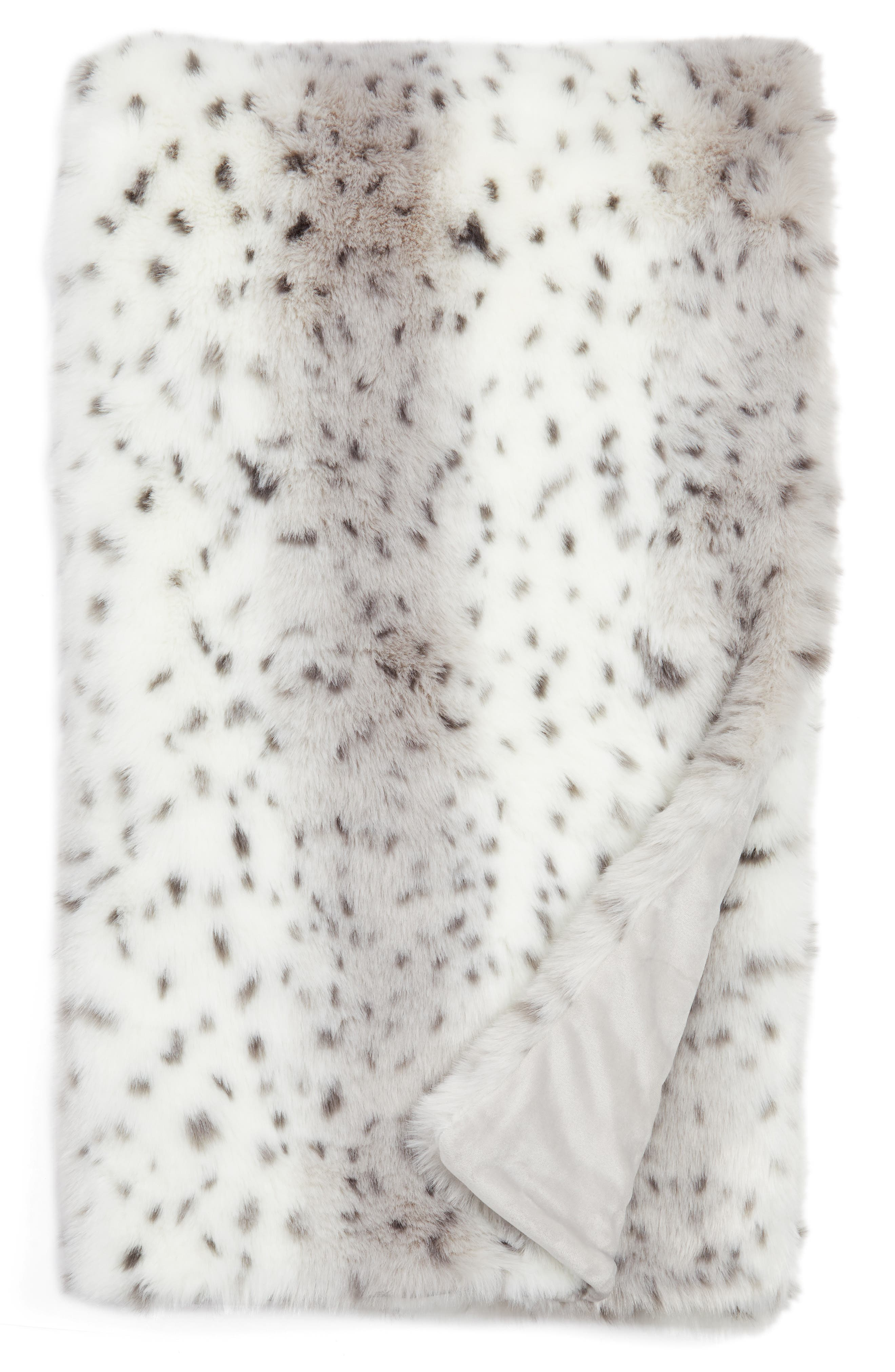 Nordstrom at Home Snow Leopard Faux Fur Throw