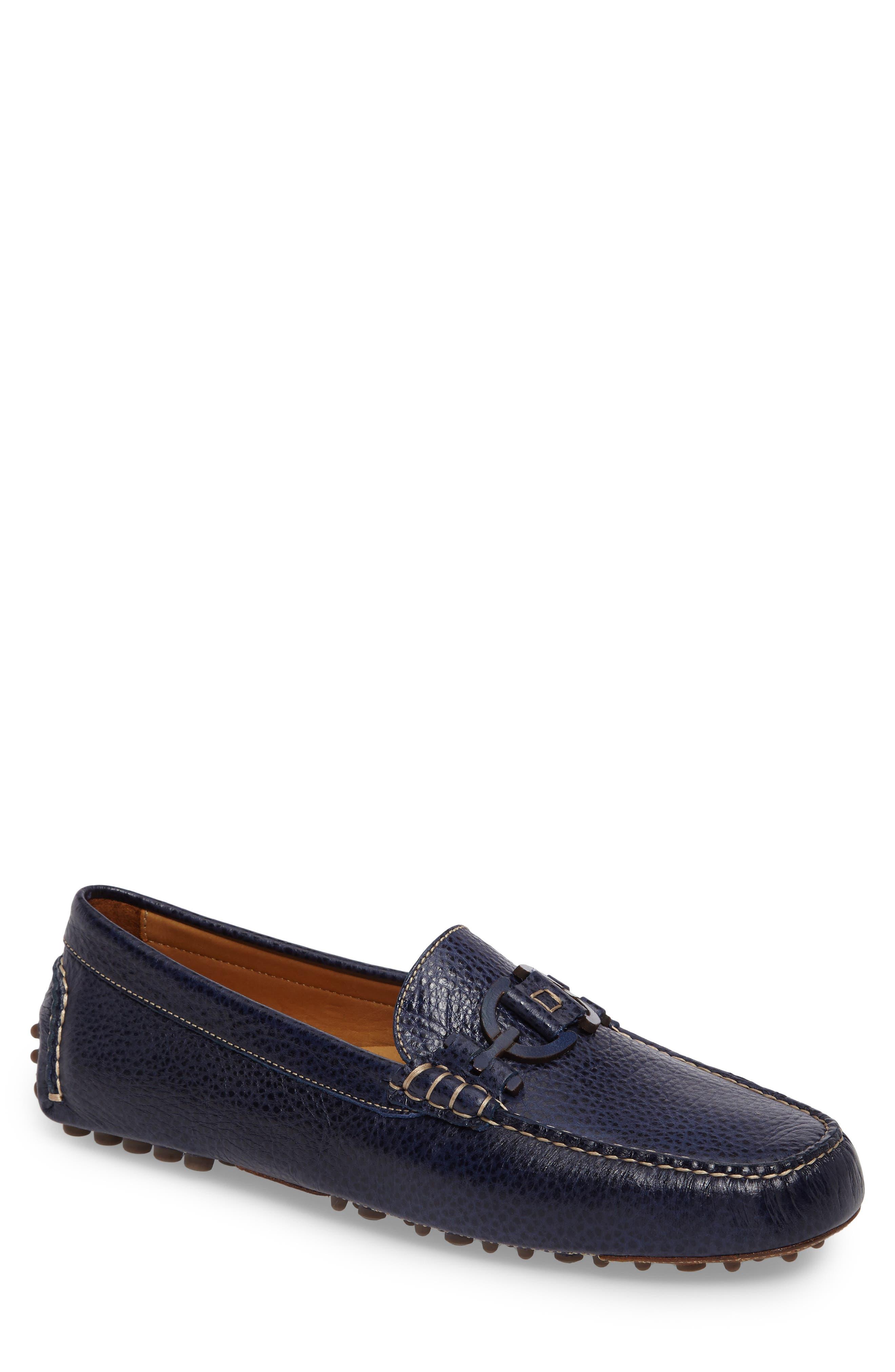 Donald J Pliner Riel Driving Loafer,                         Main,                         color, Navy