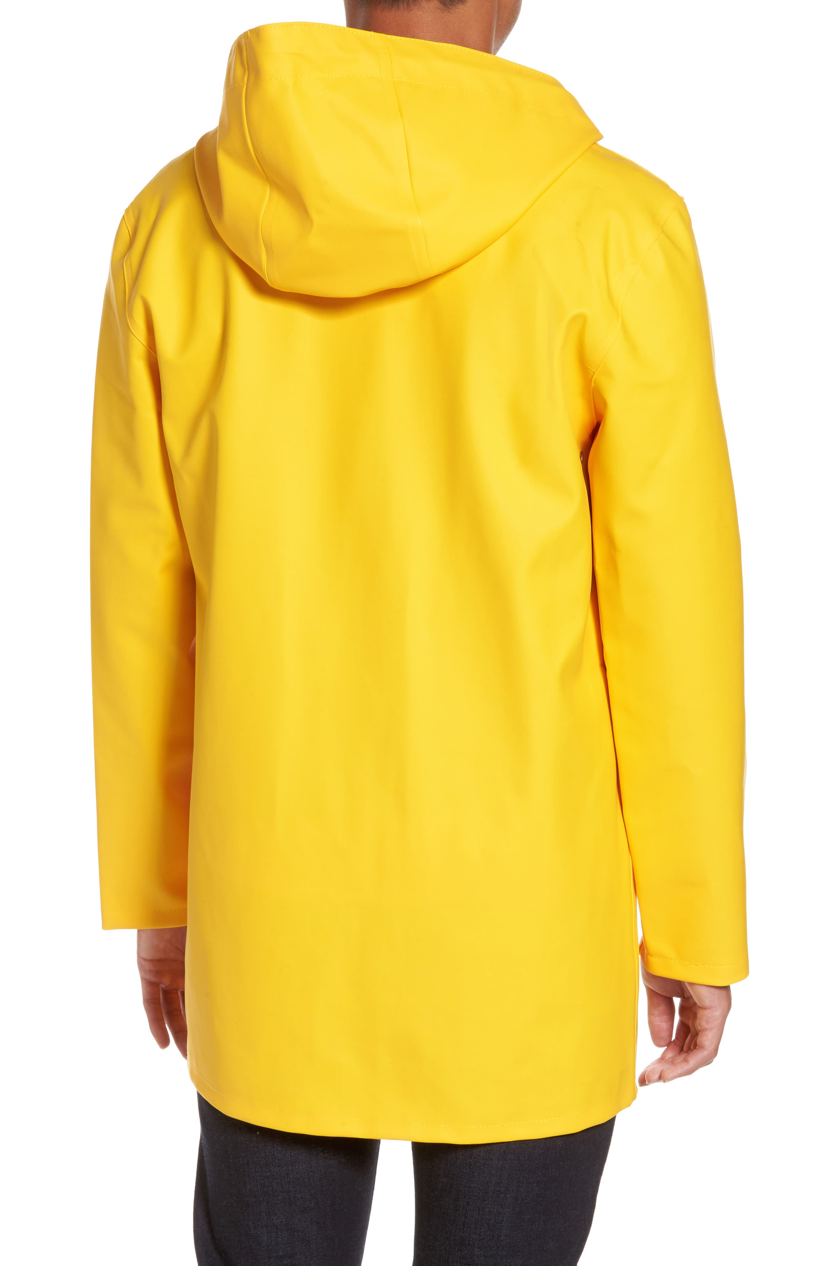 Stockholm Waterproof Hooded Raincoat,                             Alternate thumbnail 2, color,                             Yellow