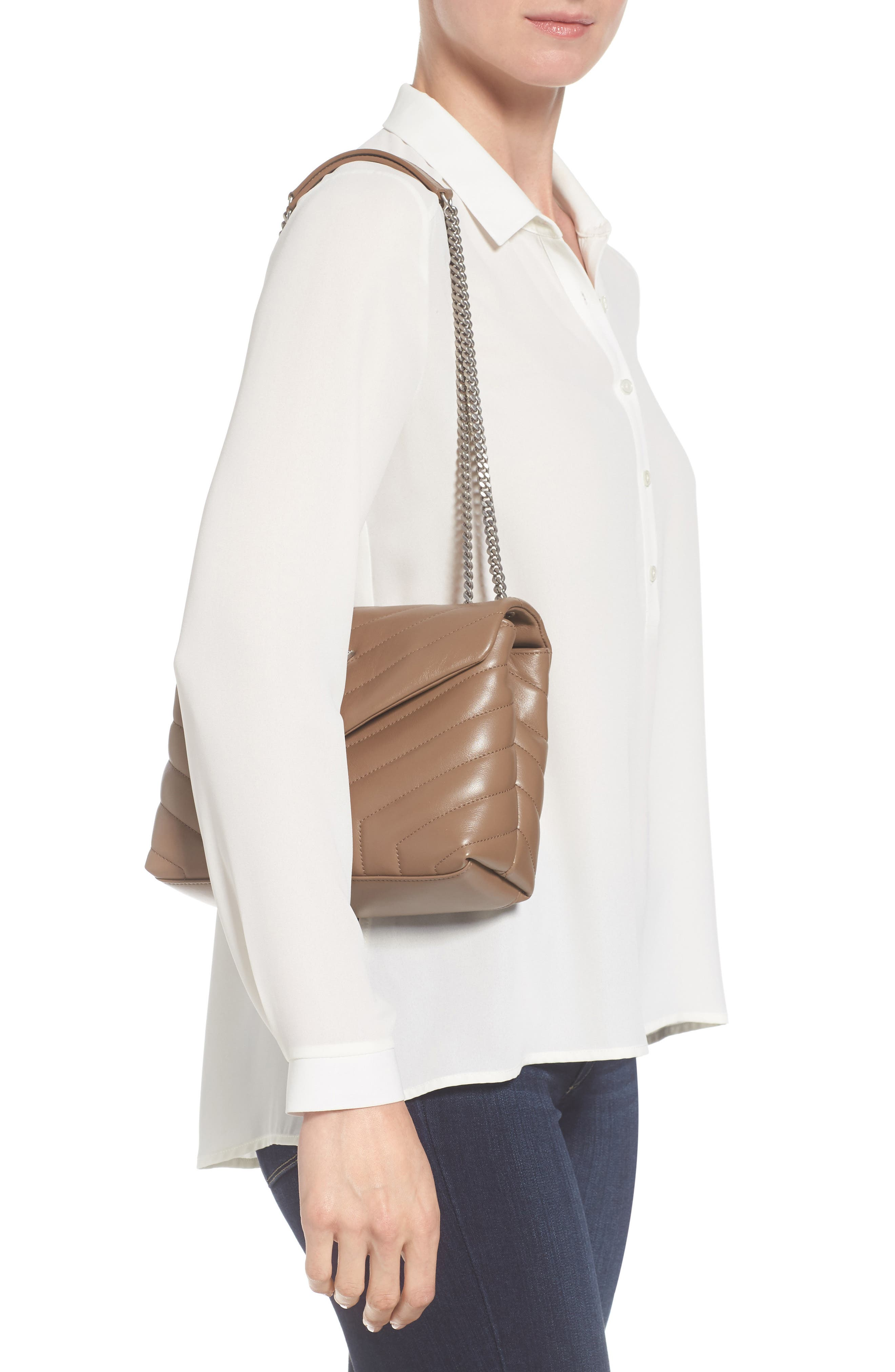 Alternate Image 2  - Saint Laurent Small Loulou Matelassé Leather Shoulder Bag