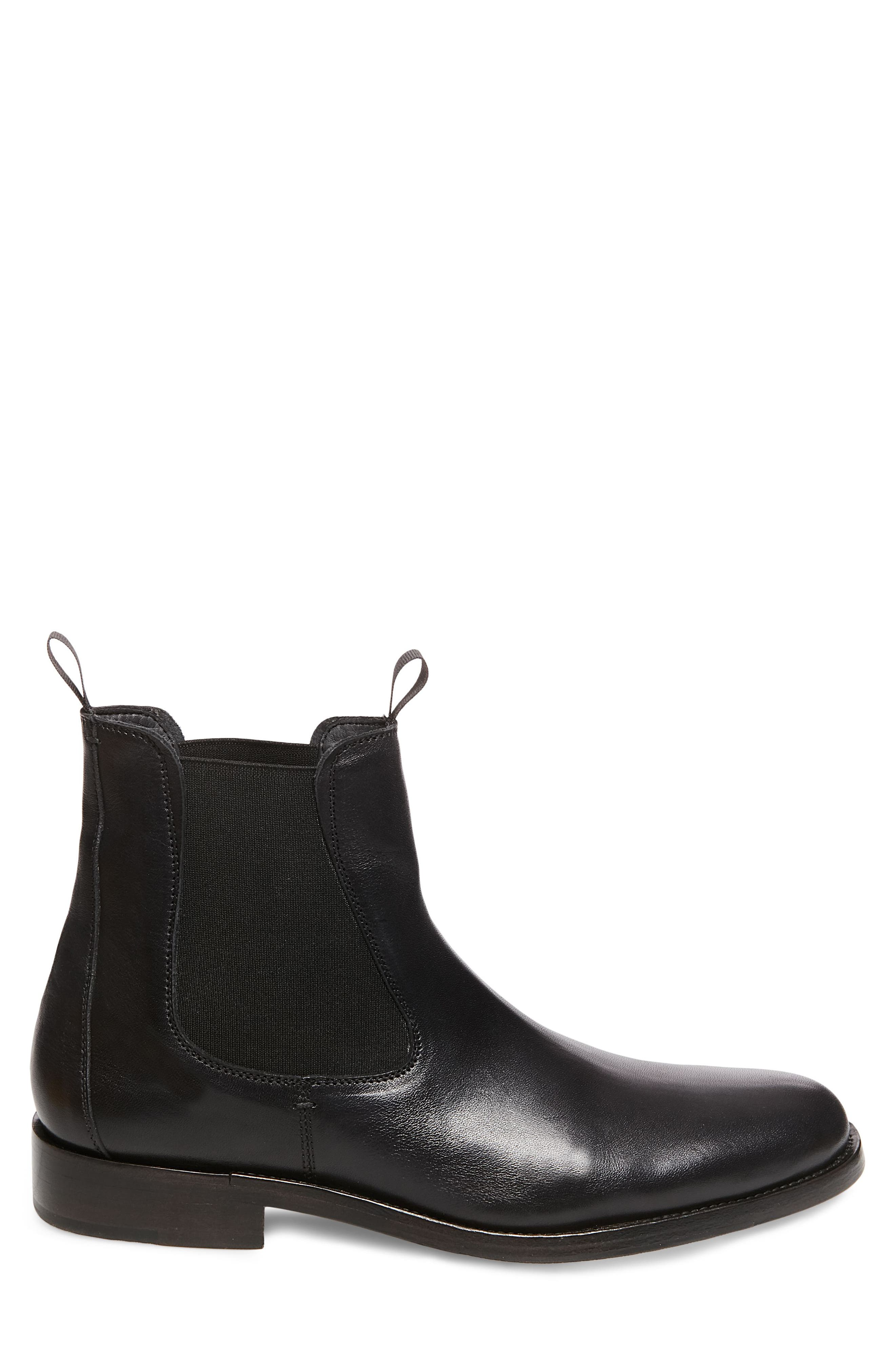 x GQ Nick Chelsea Boot,                             Alternate thumbnail 3, color,                             Black Leather