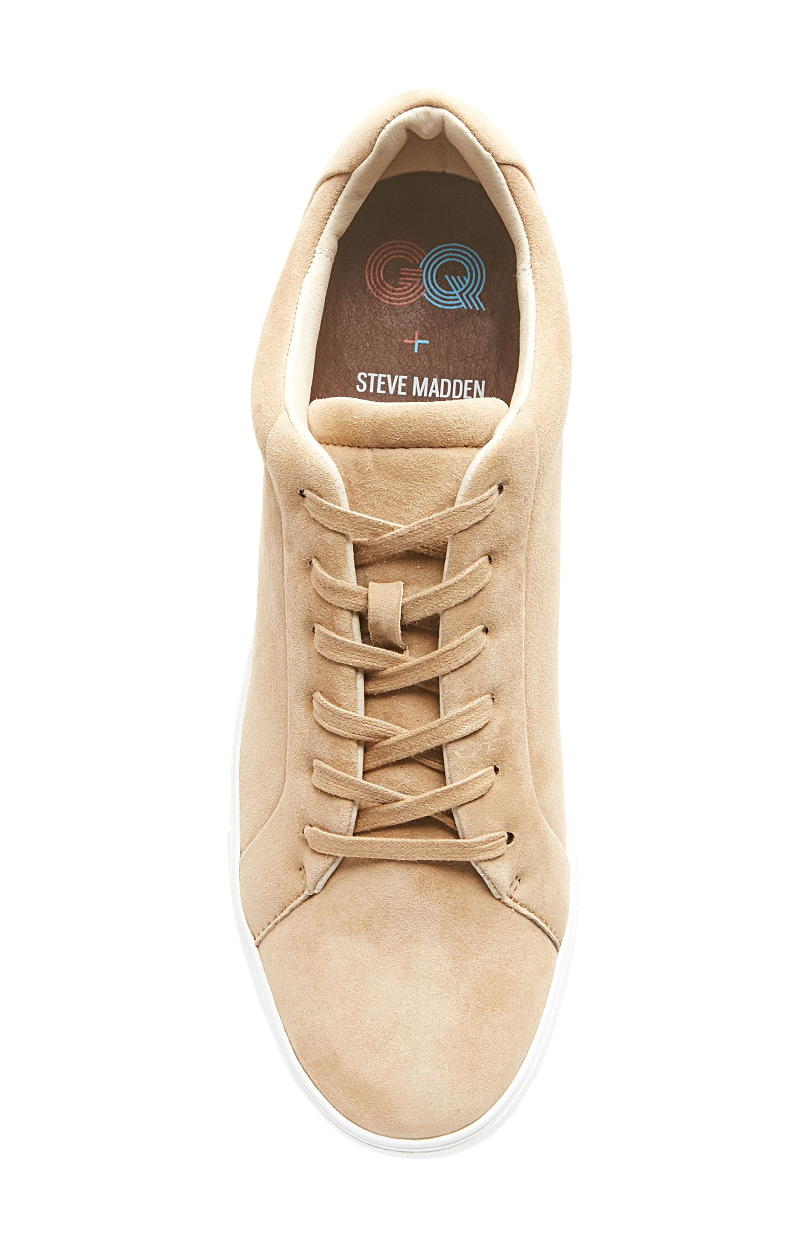 x GQ James Sneaker,                             Alternate thumbnail 5, color,                             Tan Suede