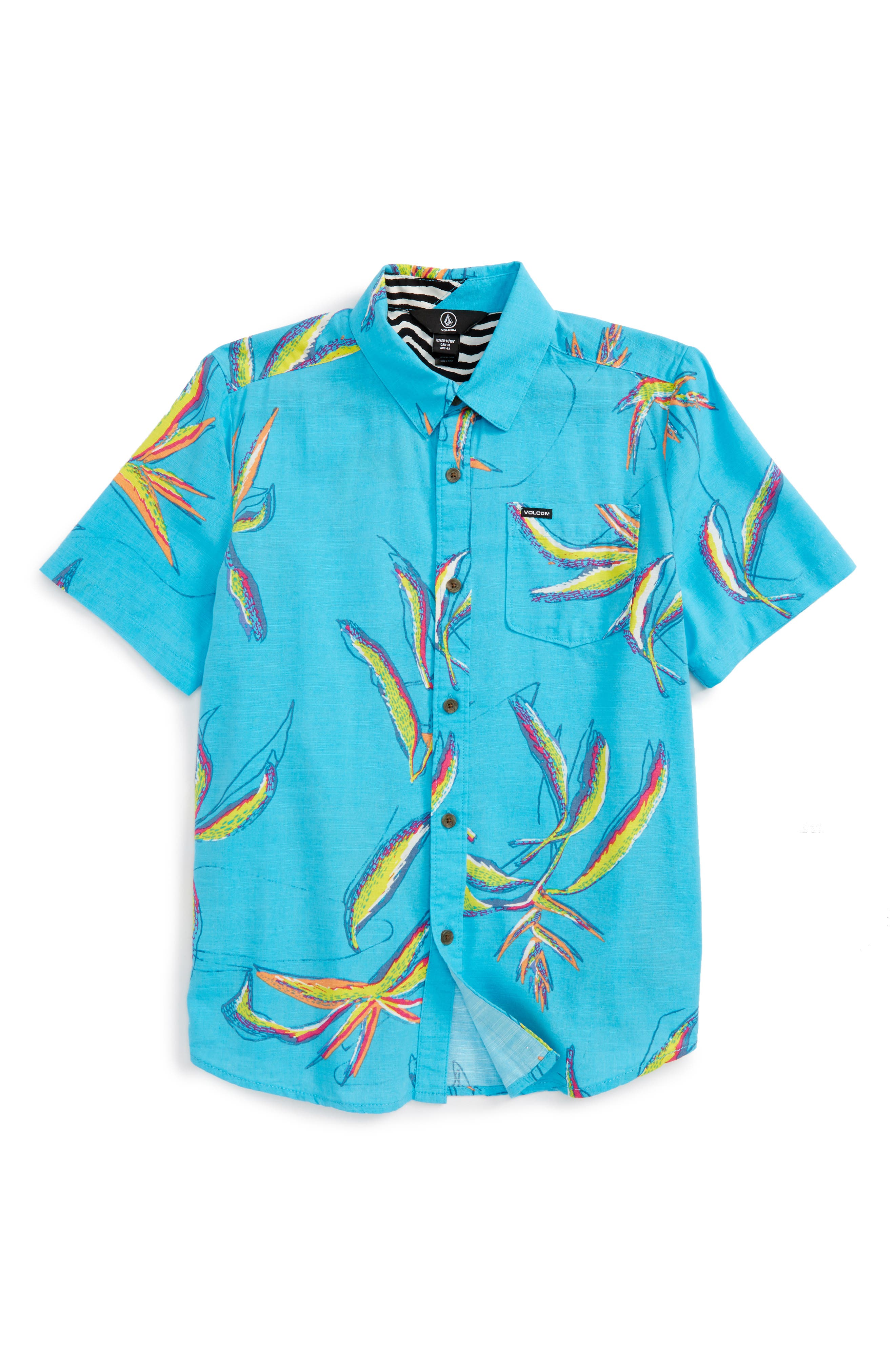 Volcom Motel Floral Shirt (Big Boys)